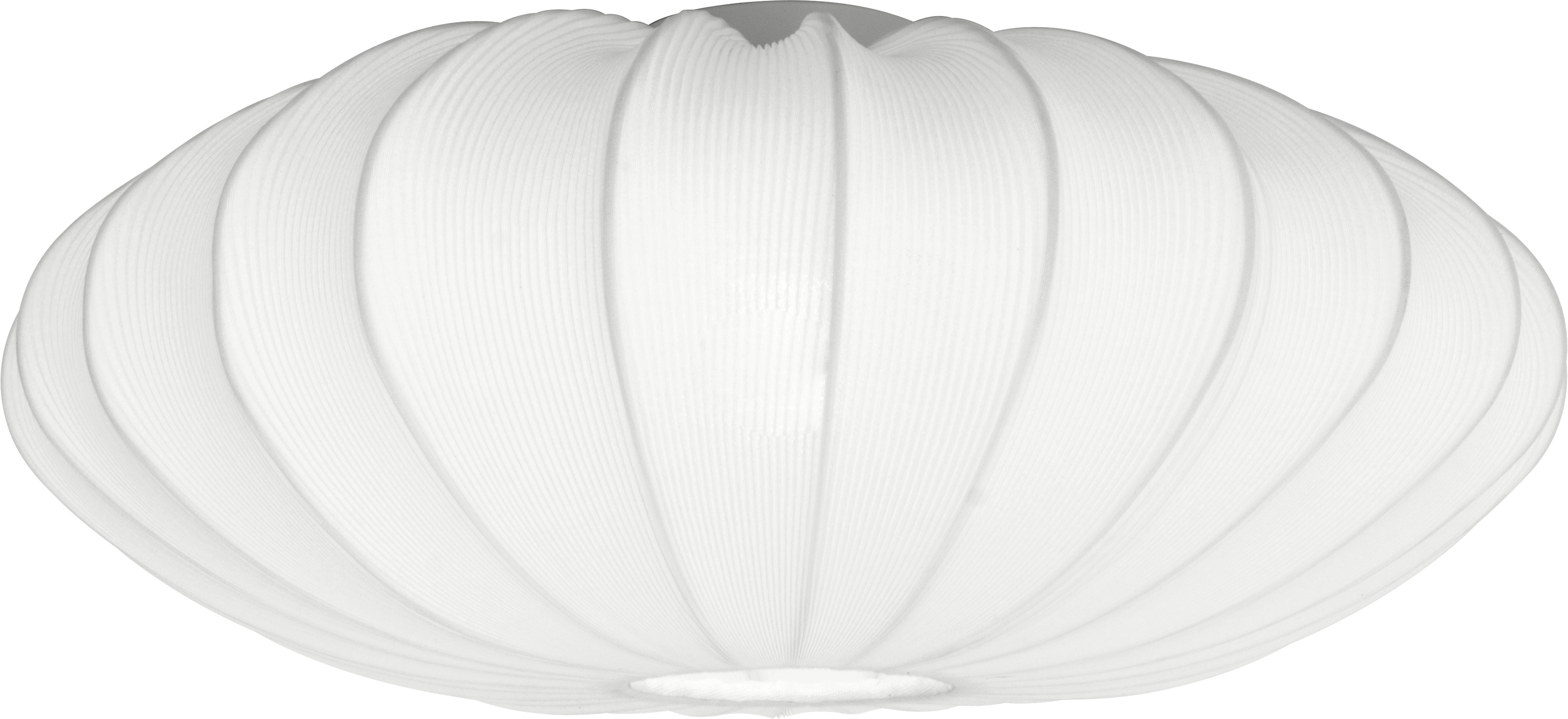 Plafondlamp Mamsell, Metaal, textiel, Wit, Ø 65 x H 27 cm