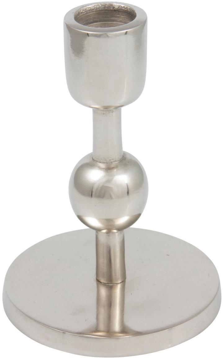 Kerzenhalter Edgar, Aluminium, Silberfarben, Ø 9 x H 13 cm