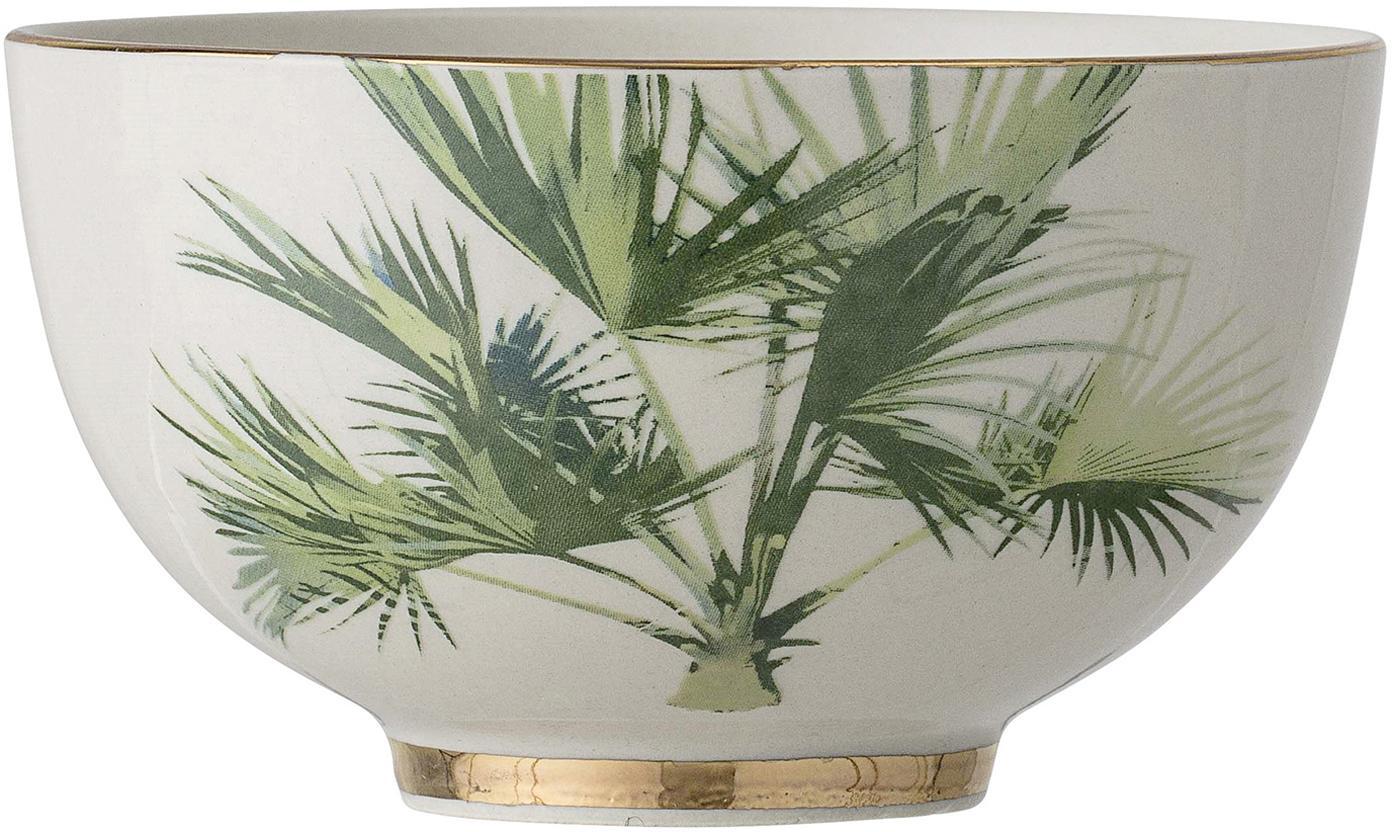 Cuencos Aruba, 4uds., Gres, Blanco crema, verde, Ø 12 x Al 7 cm
