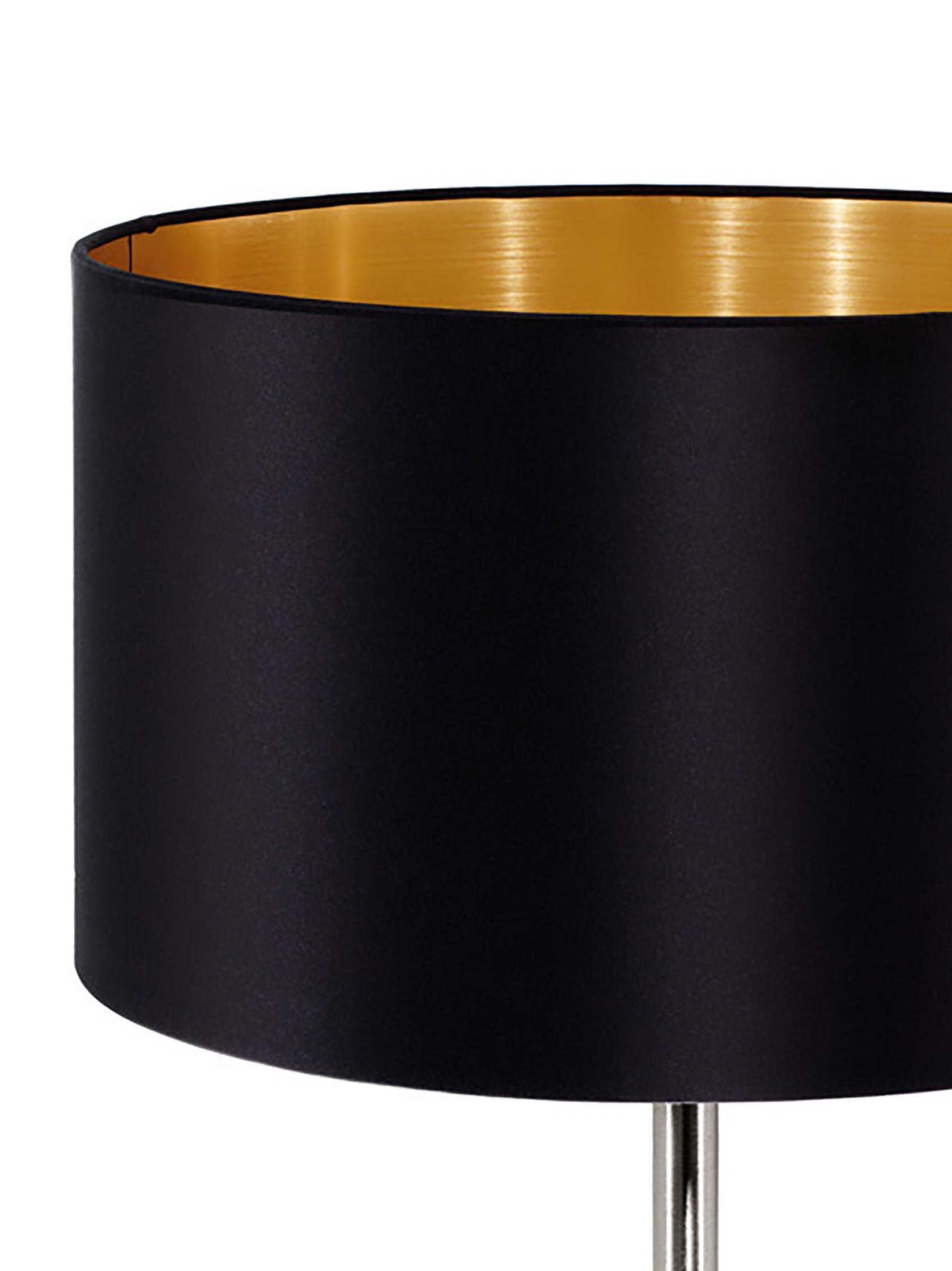 Tischlampe Jamie mit Gold, Lampenfuß: Metall, vernickelt, Schwarz,Silberfarben, ∅ 23 x H 42 cm
