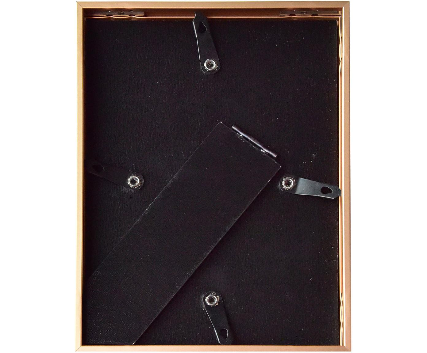 Bilderrahmen Accent, Rahmen: Aluminium, beschichtet, Front: Glas, Rückseite: Mitteldichte Holzfaserpla, Schwarz, 15 x 20 cm