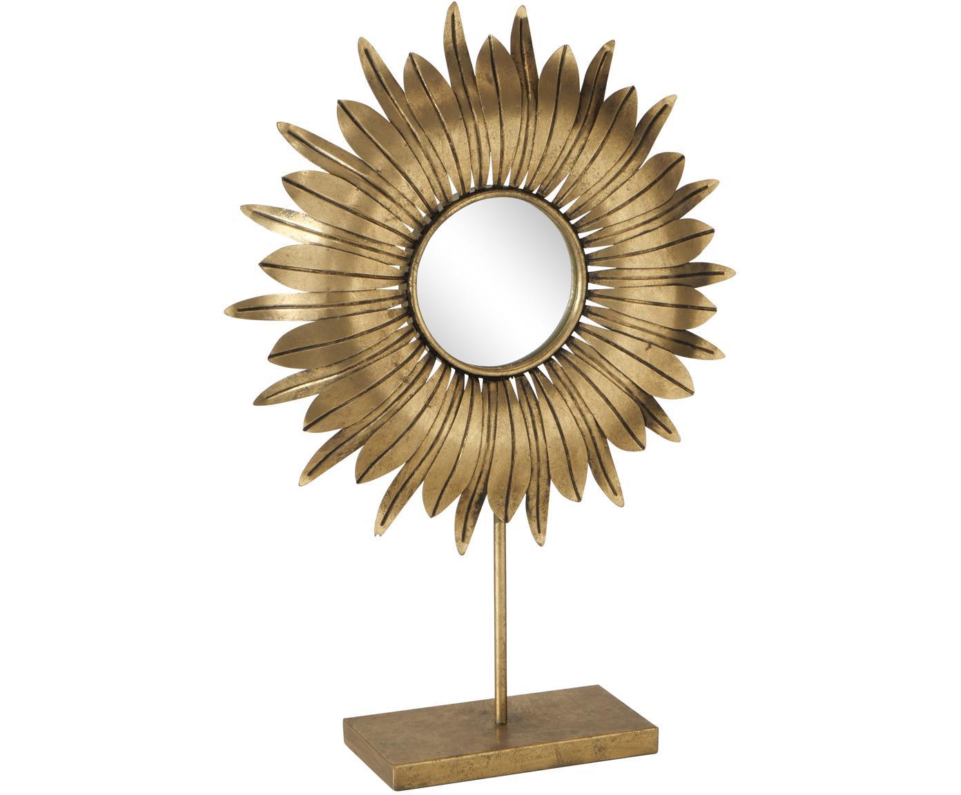 Deko-Objekt Oro, Metall, Spiegelglas, Messingfarben, 43 x 61 cm