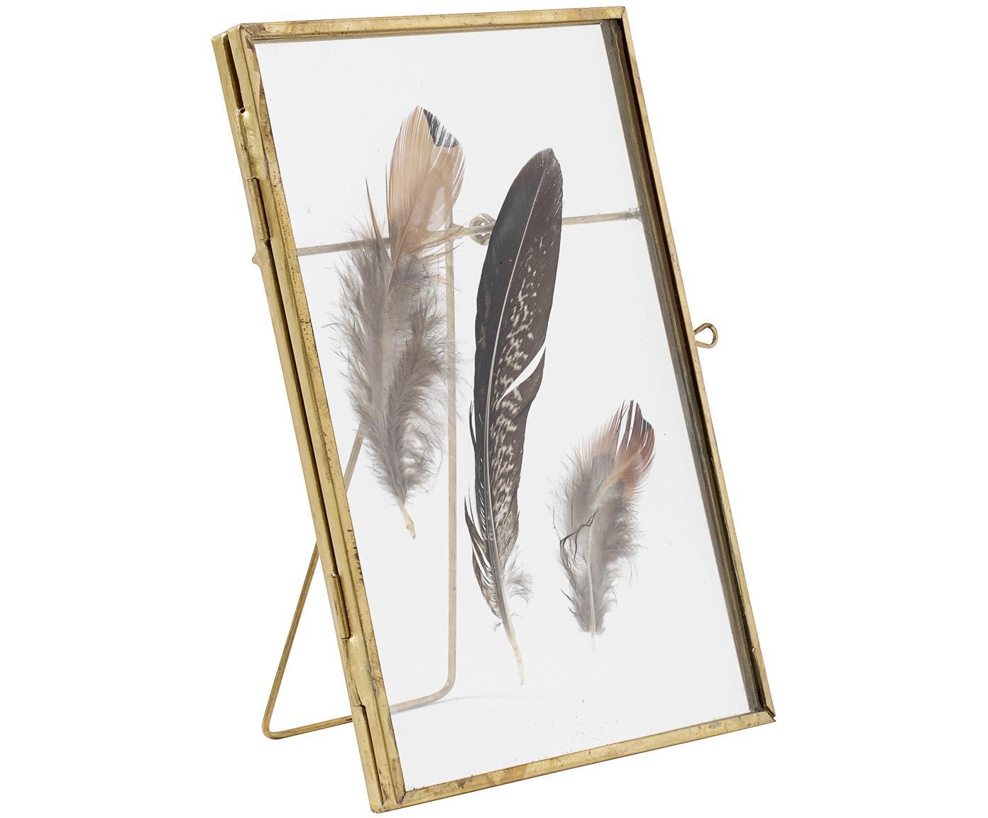Cornice Pioro, Struttura: metallo rivestito, Ottone, trasparente, 13 x 18 cm