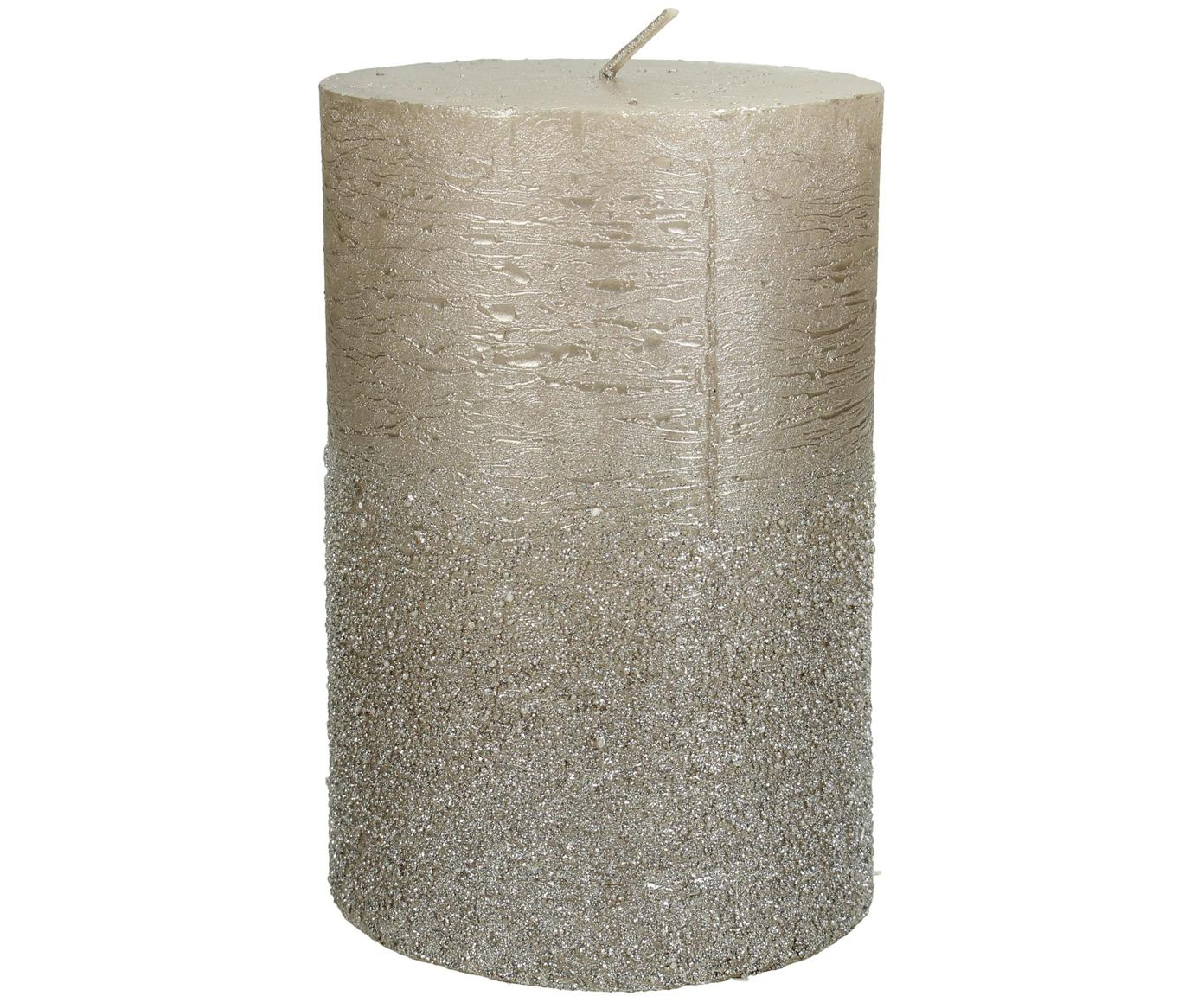 Świeca pieńkowa Glitters, Wosk, Odcienie złotego, Ø 10 x W 15 cm