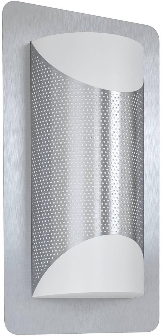 Außenwandleuchte Cistierna, Edelstahl, 18 x 35 cm
