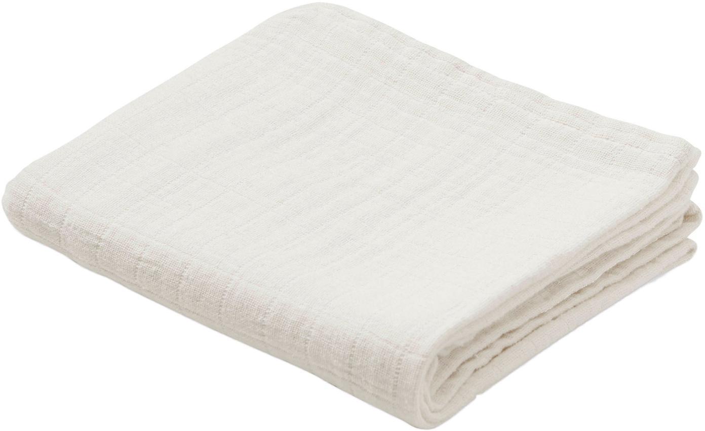 Pieluszka tetrowa z bawełny organicznej Muslin, 2 szt., Bawełna organiczna, certyfikat GOTS, Kremowy, S 70 x D 70 cm