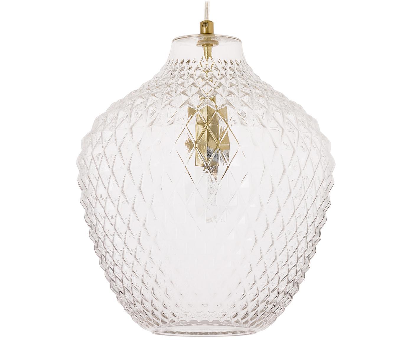 Lámpara de techo Lee, Pantalla: vidrio, Latón, transparente, ∅ 27 x Al 33 cm