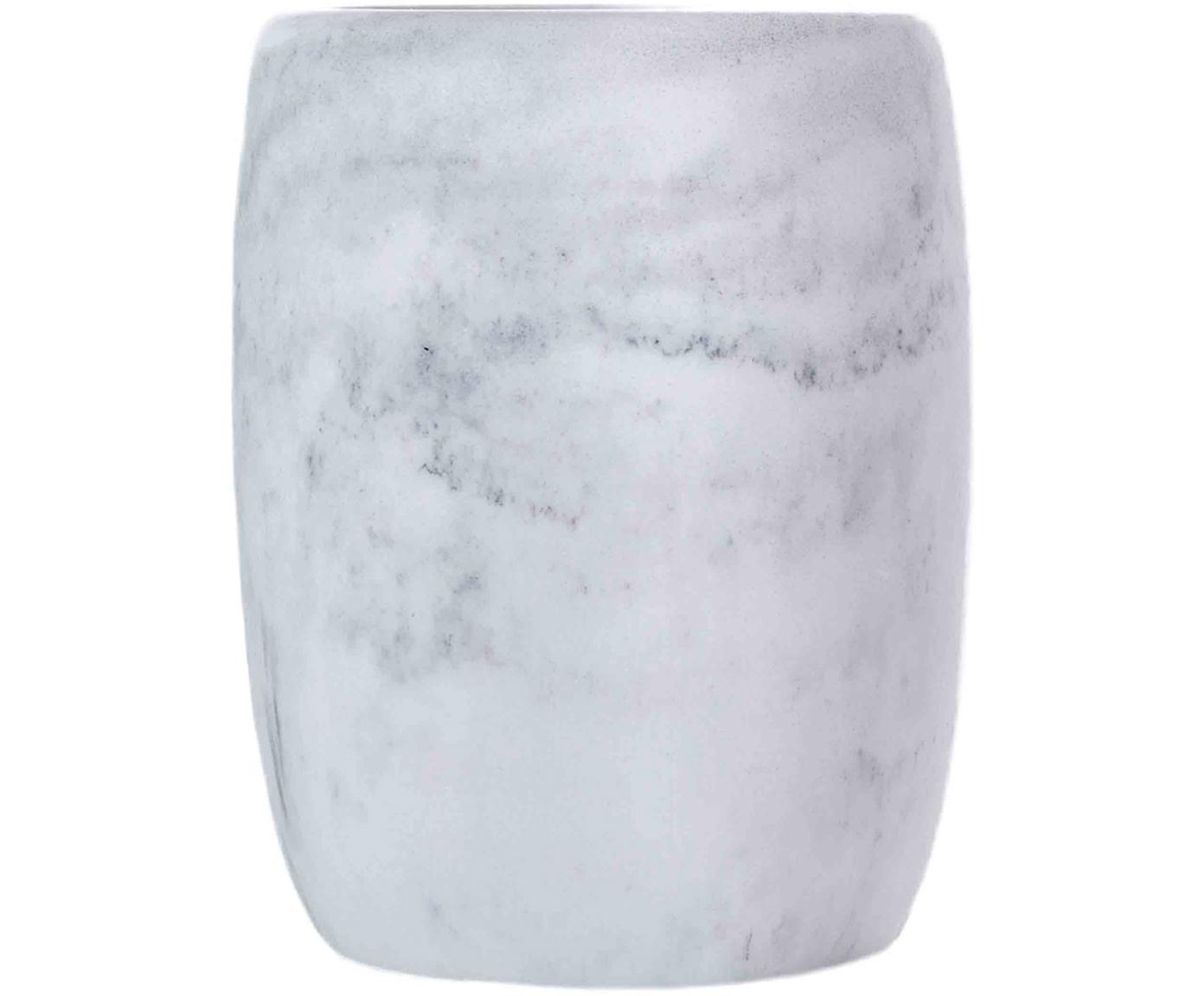 Porta spazzolini Marblis, Poliresina, Bianco, Ø 7 x Alt. 10 cm