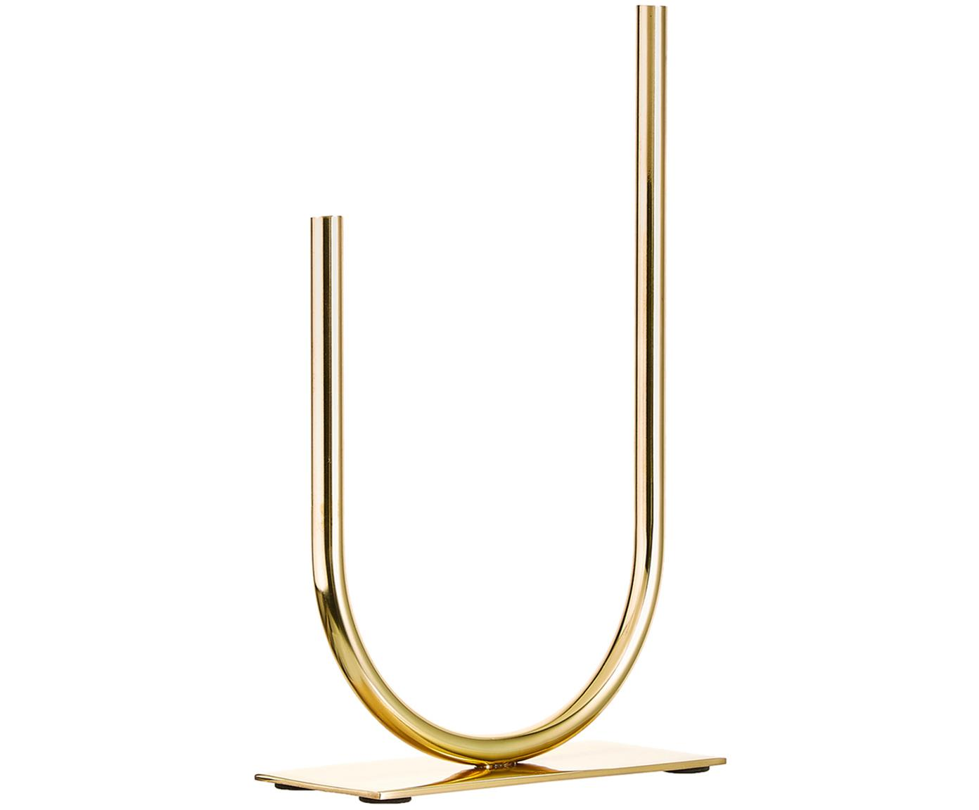 Vaso in metallo in metallo Circle U, Metallo, Dorato, Larg. 19 x Alt. 30 cm