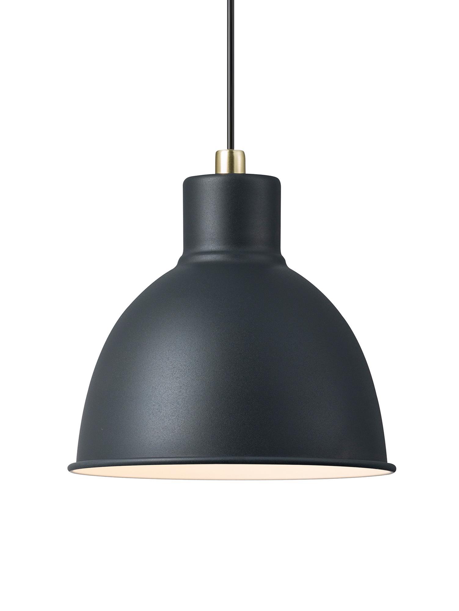 Hanglamp Pop, Metaal, kunststof (PVC), Grijs, Ø 21 x H 24 cm