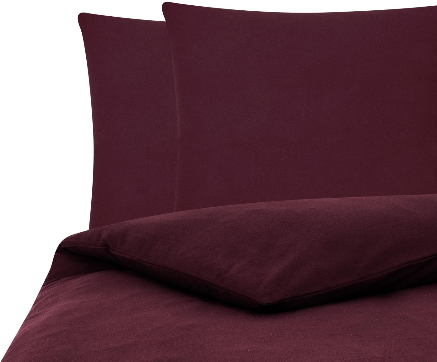 Flanell-Bettwäsche Biba in Dunkelrot, Webart: Flanell Flanell ist ein s, Dunkelrot, 200 x 200 cm + 2 Kissen 80 x 80 cm