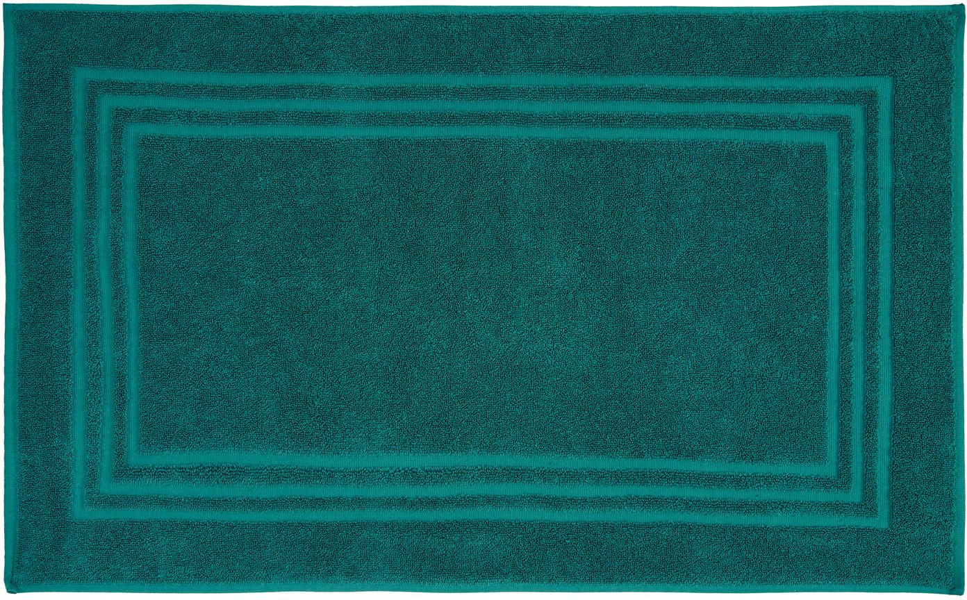 Einfarbiger Badvorleger Gentle, 100% Baumwolle, Smaragedgrün, 50 x 80 cm