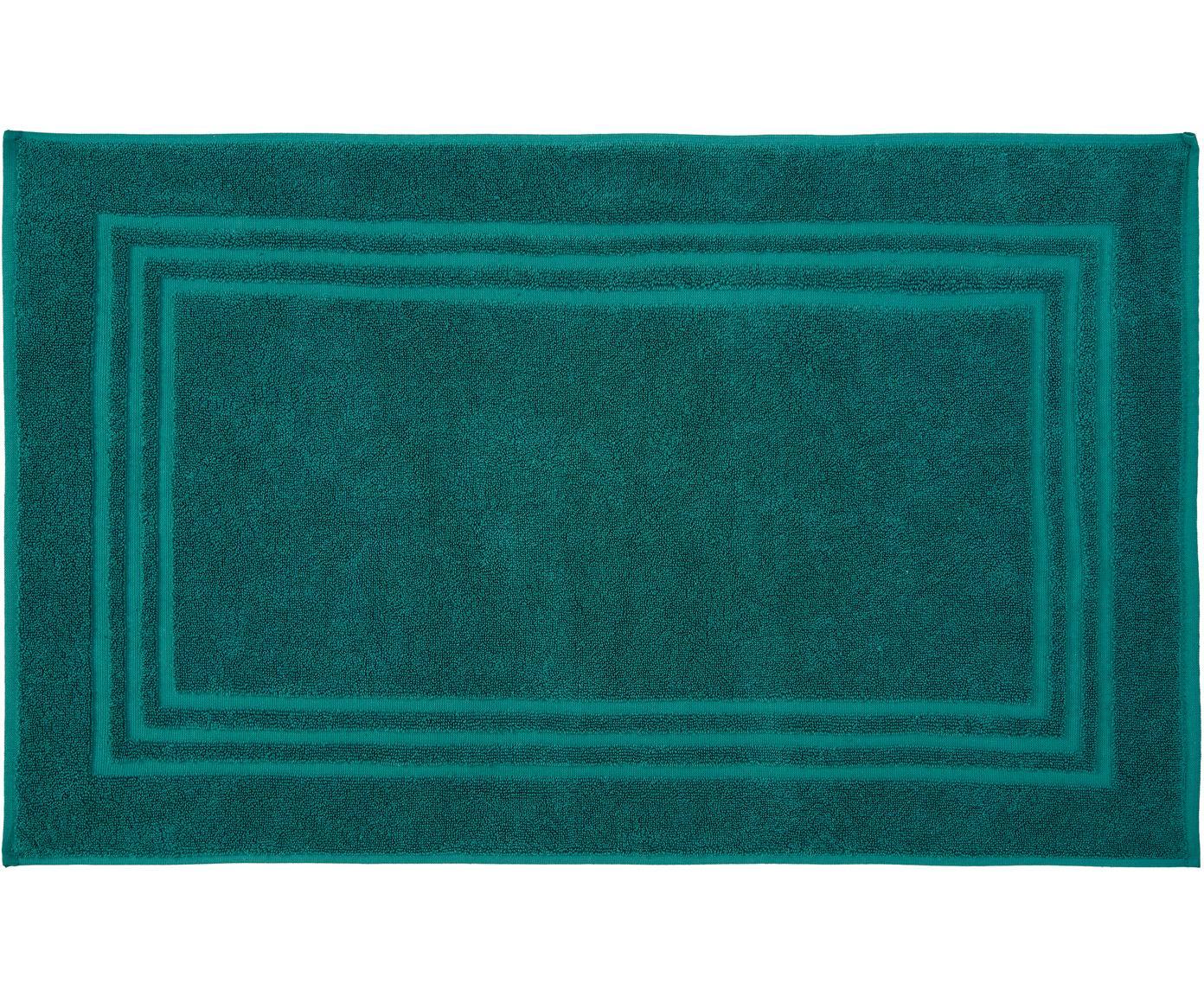 Alfombrilla de baño Gentle, Algodón, Verde esmeralda, An 50 x L 80 cm