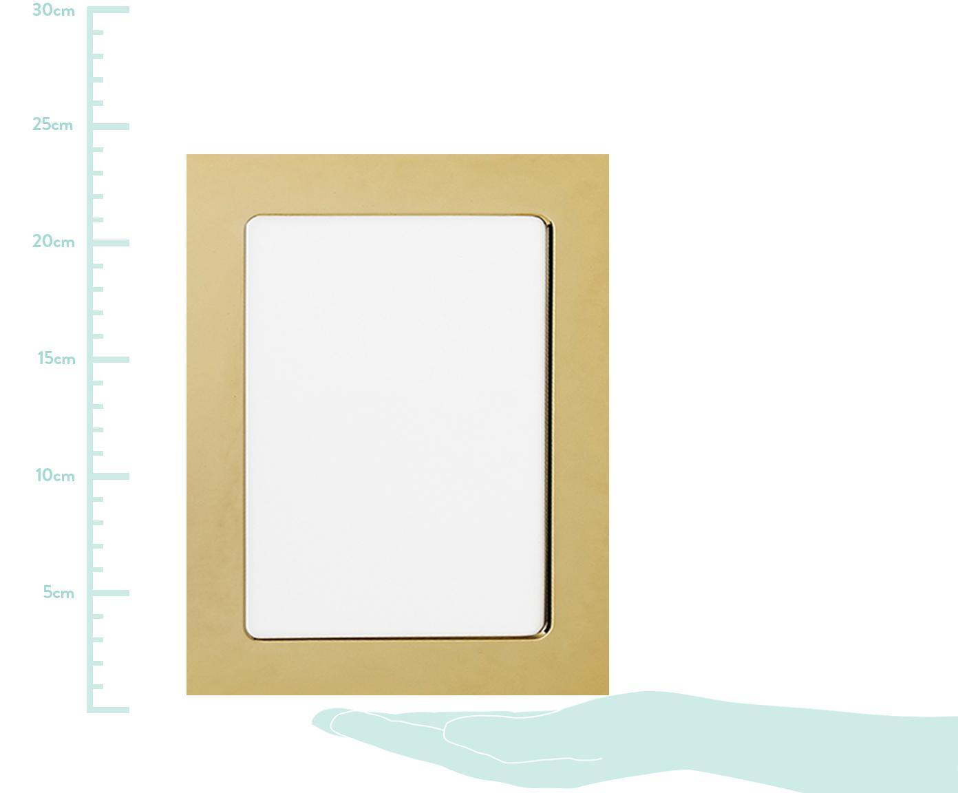 Bilderrahmen Memory, Rahmen: Eisen, hochglanz lackiert, Front: Glas, spiegelnd, Goldfarben, 13 x 18 cm