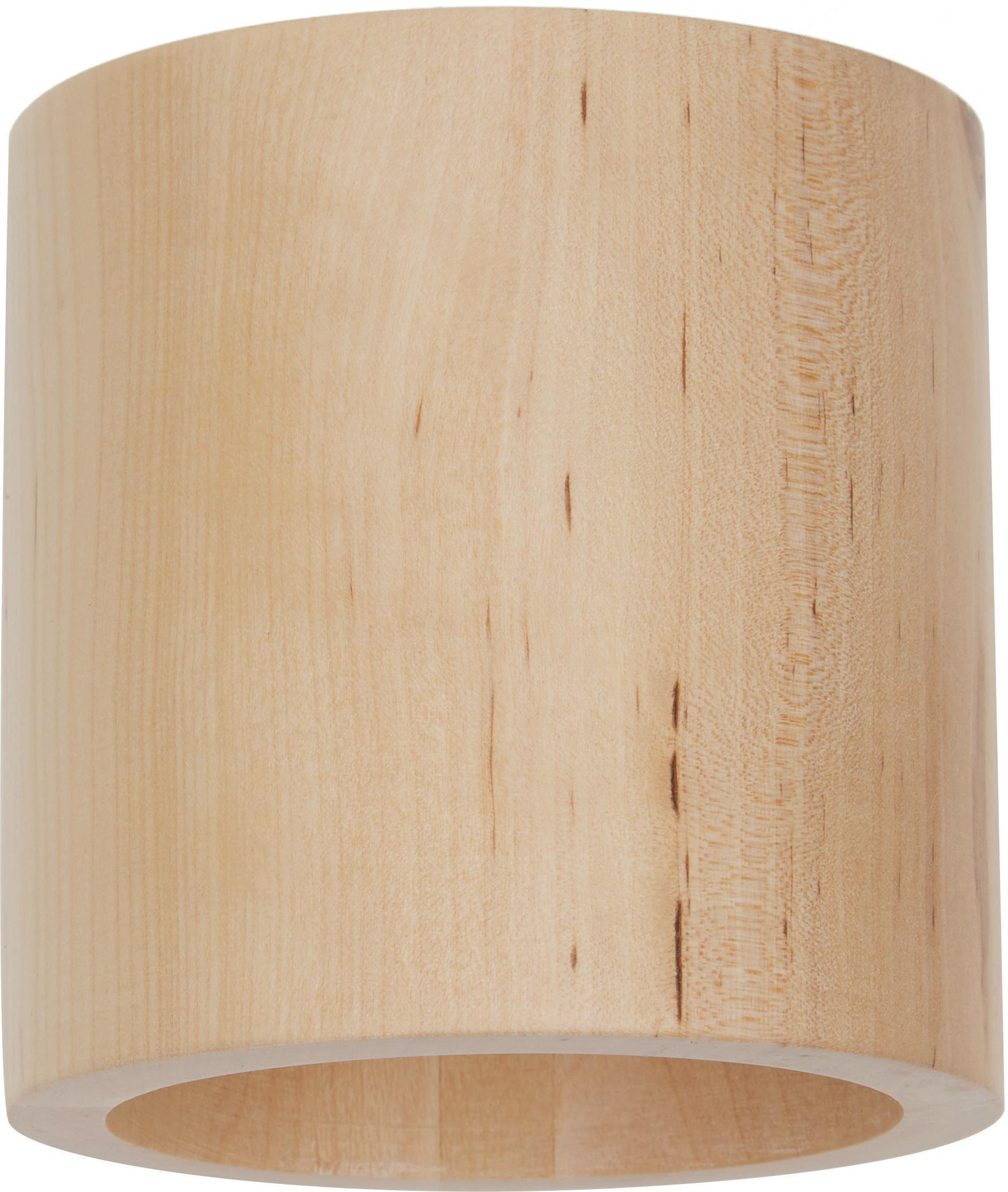 Wandlamp Roda van hout, Hout, Lichtbruin, 10 x 10 cm