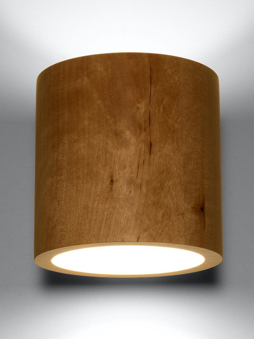 Applique en bois Roda, Brun clair