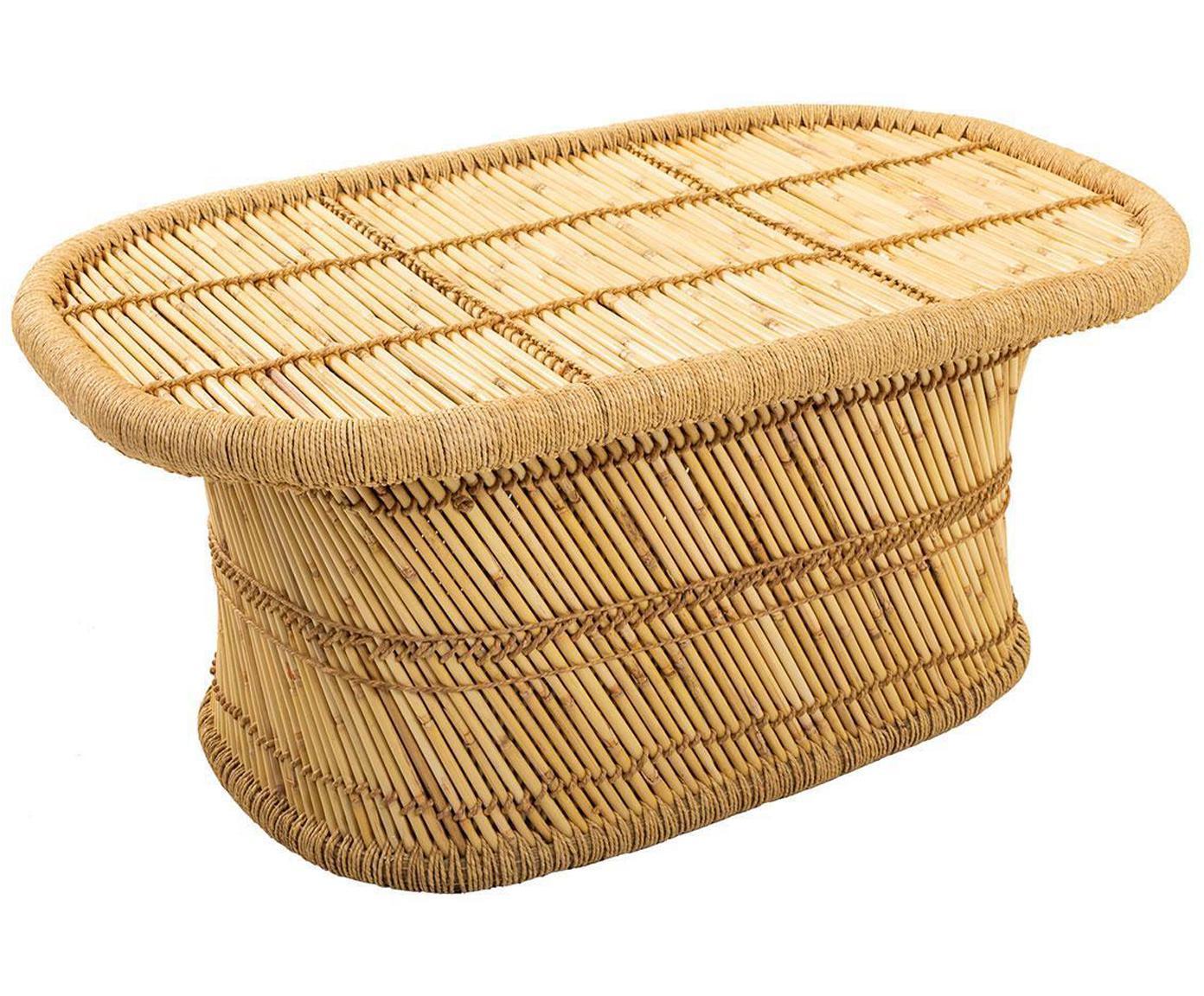 Mesa de centro de exterior Carlota, Bambú, cuerda, Beige, An 102 x F 60 cm