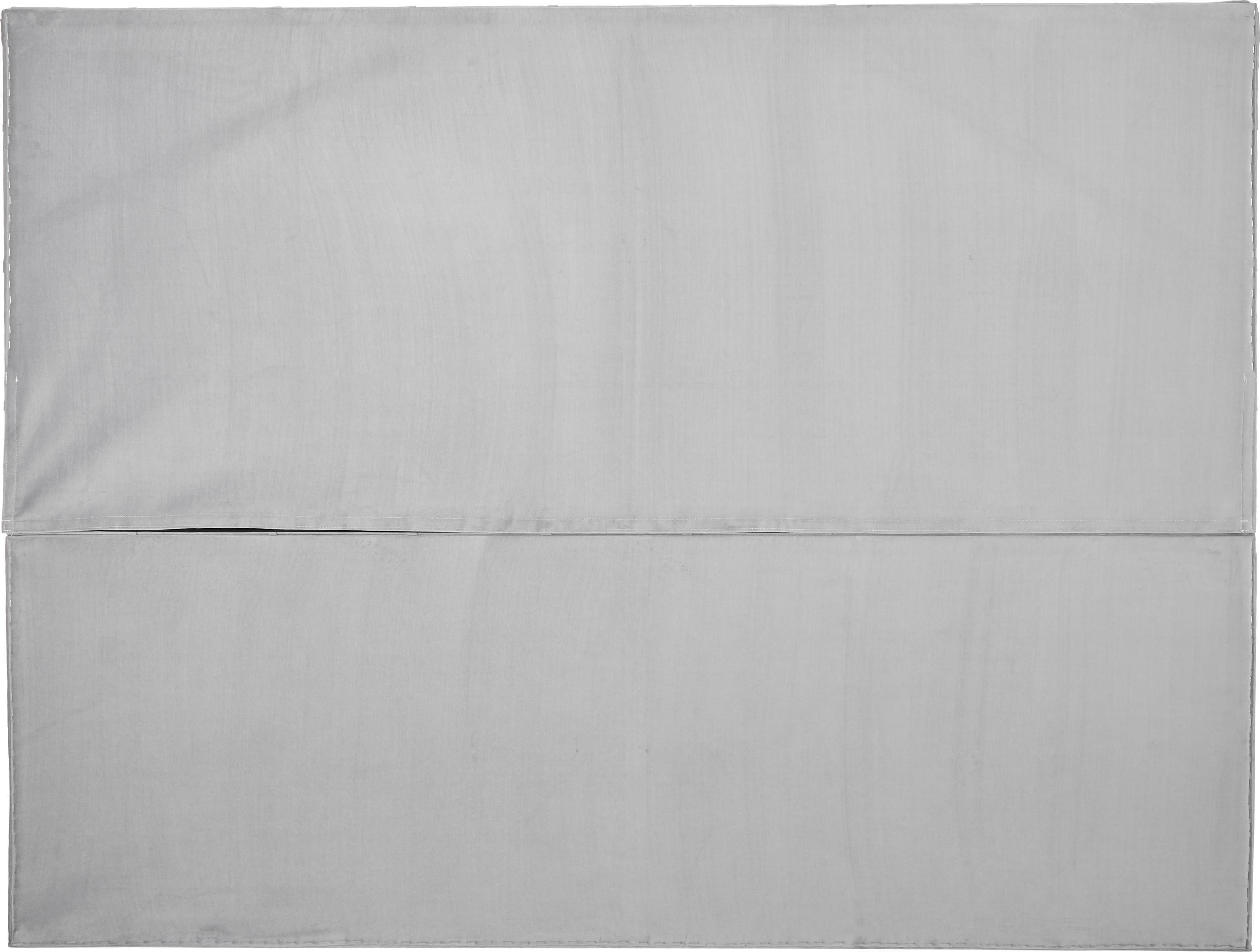Premium fluwelen boxspring bed Phoebe, Matras: 7-zones-pocketveringkern , Poten: massief gelakt beukenhout, Lichtgrijs, 200 x 200 cm