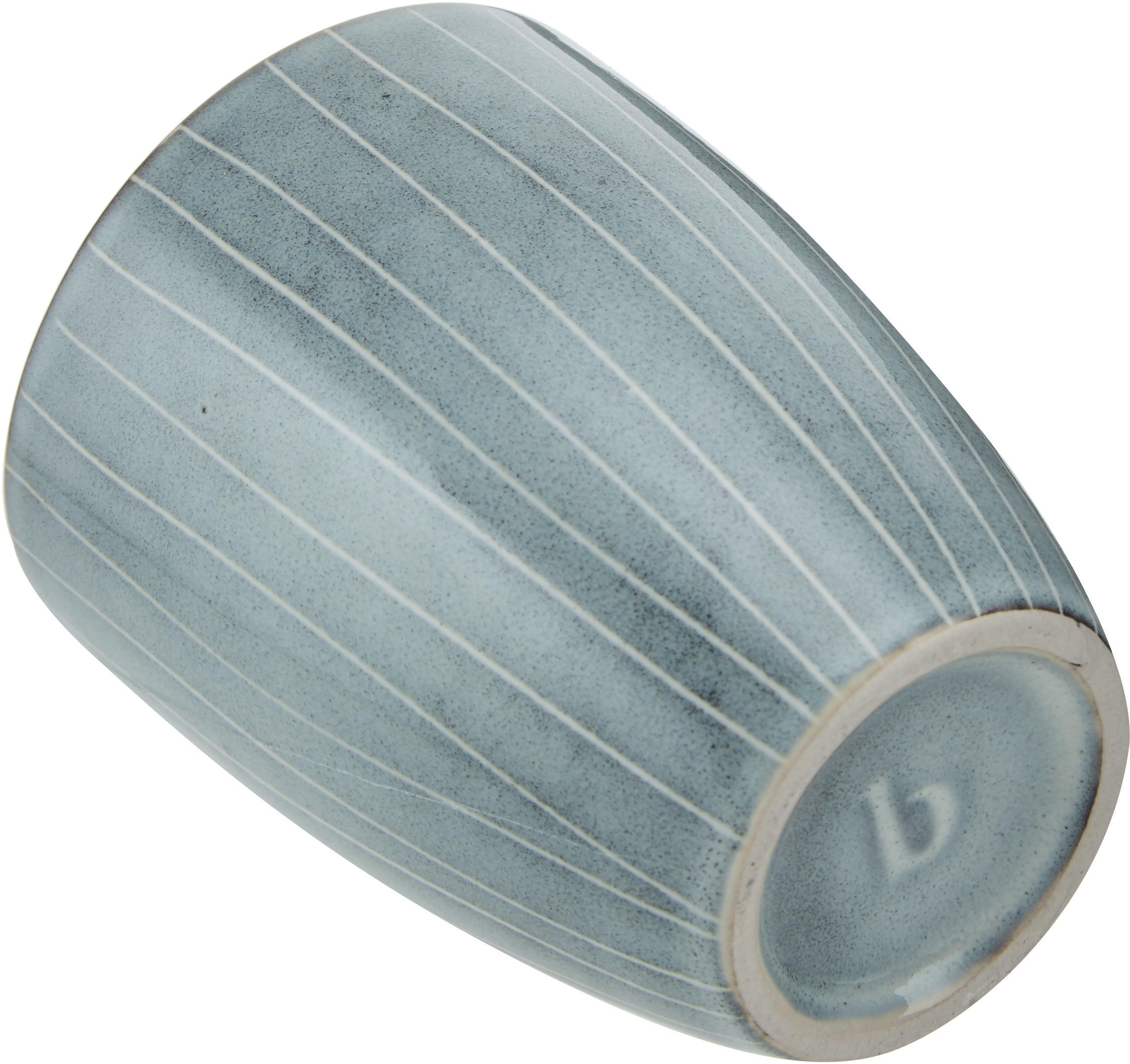 Mugs faits à la main Nordic Sea, 6pièces, Tons gris et bleus