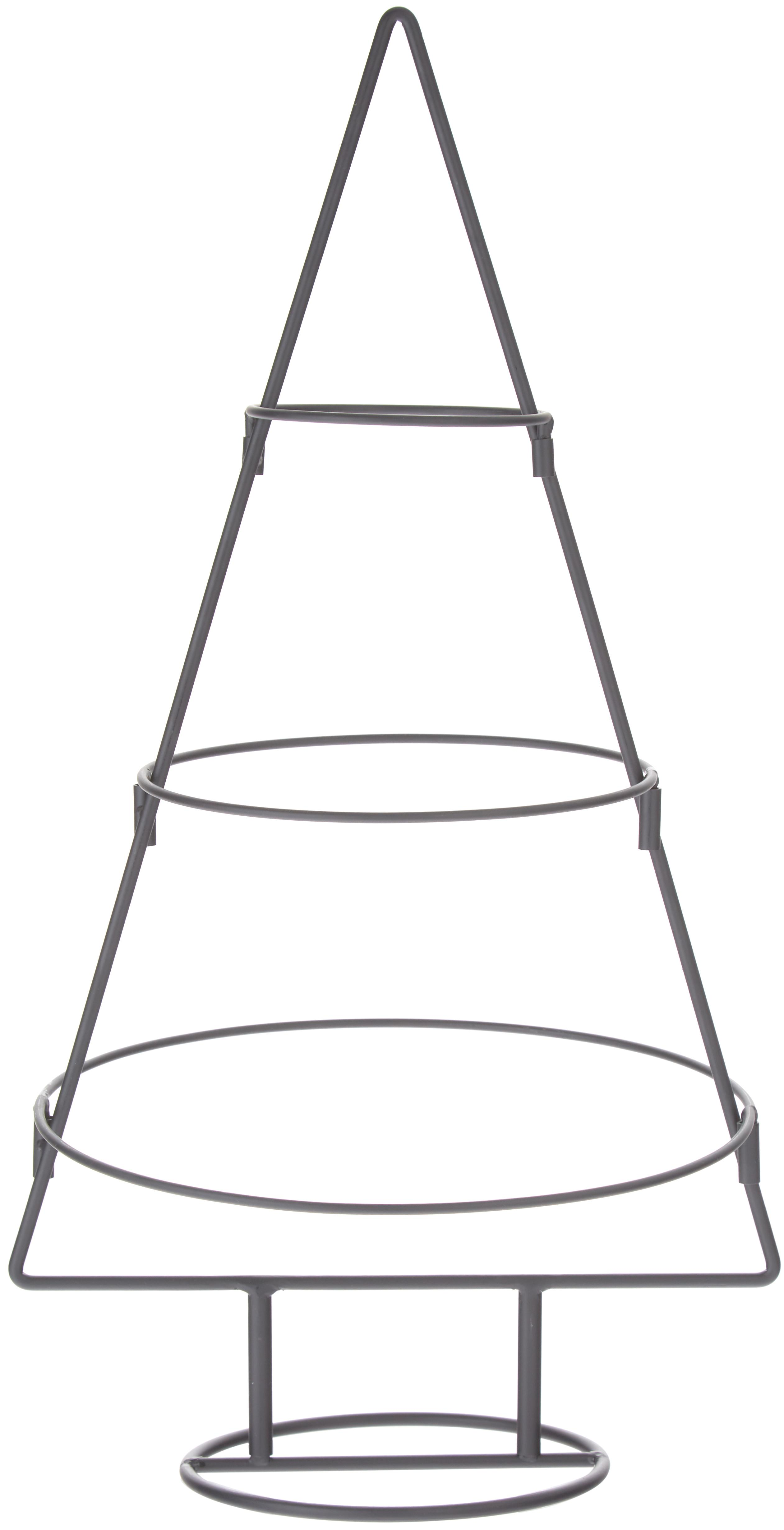Deko-Objekt Arena, Metall, lackiert, Schwarz, 32 x 60 cm