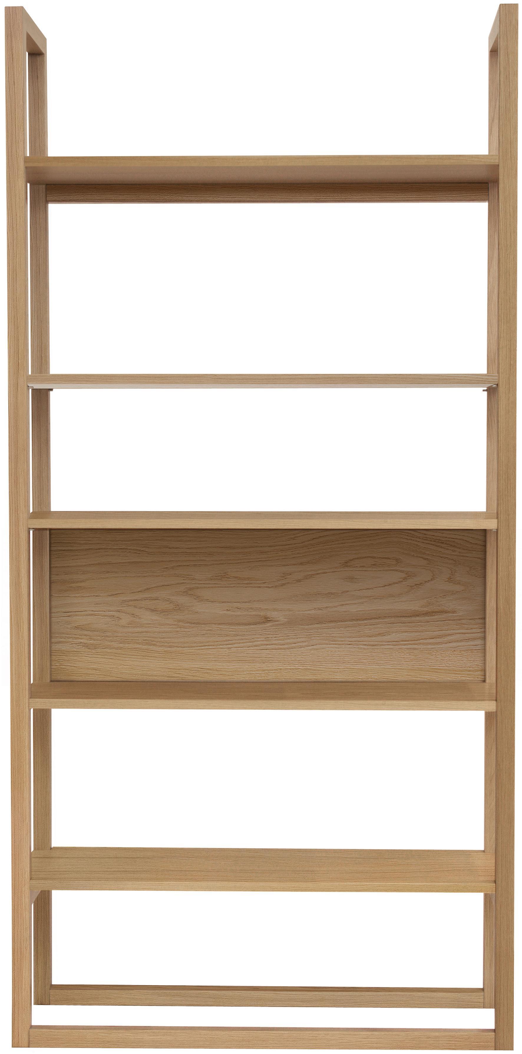 Regal NewEst aus Eichenholz, Korpus: Eichenholz, klar lackiert, Eiche, 90 x 185 cm