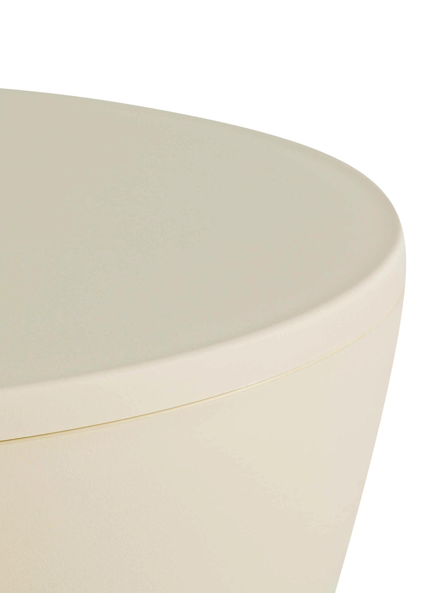 Tabouret/table d'appoint design Prince AHA, Cire blanche