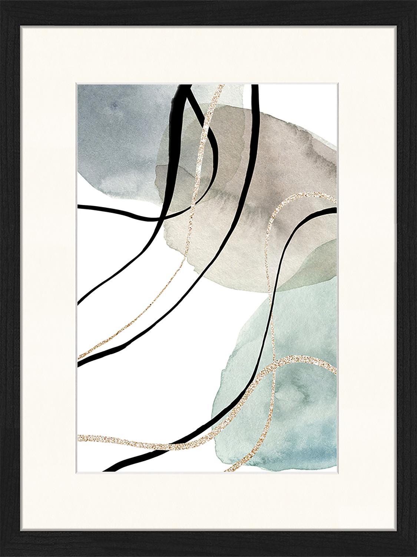 Stampa digitale incorniciata Geometric Poster, Immagine: stampa digitale su carta,, Cornice: legno, verniciato, Multicolore, Larg. 33 x Alt. 43 cm