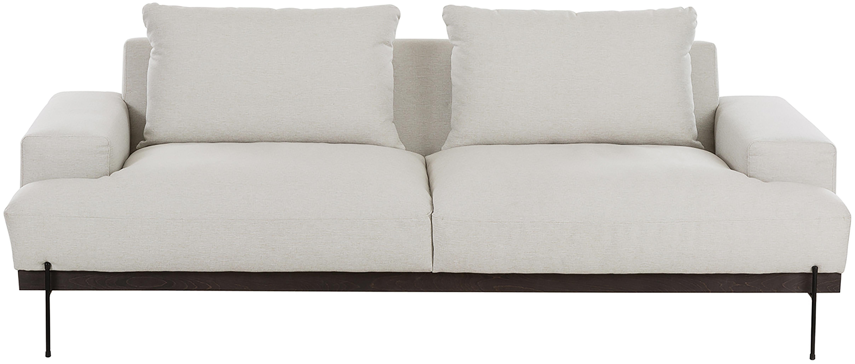 Sofa Brooks (3-Sitzer), Bezug: Polyester 35.000 Scheuert, Gestell: Kiefernholz, massiv, Rahmen: Kiefernholz, lackiert, Webstoff Beige, B 230 x T 98 cm