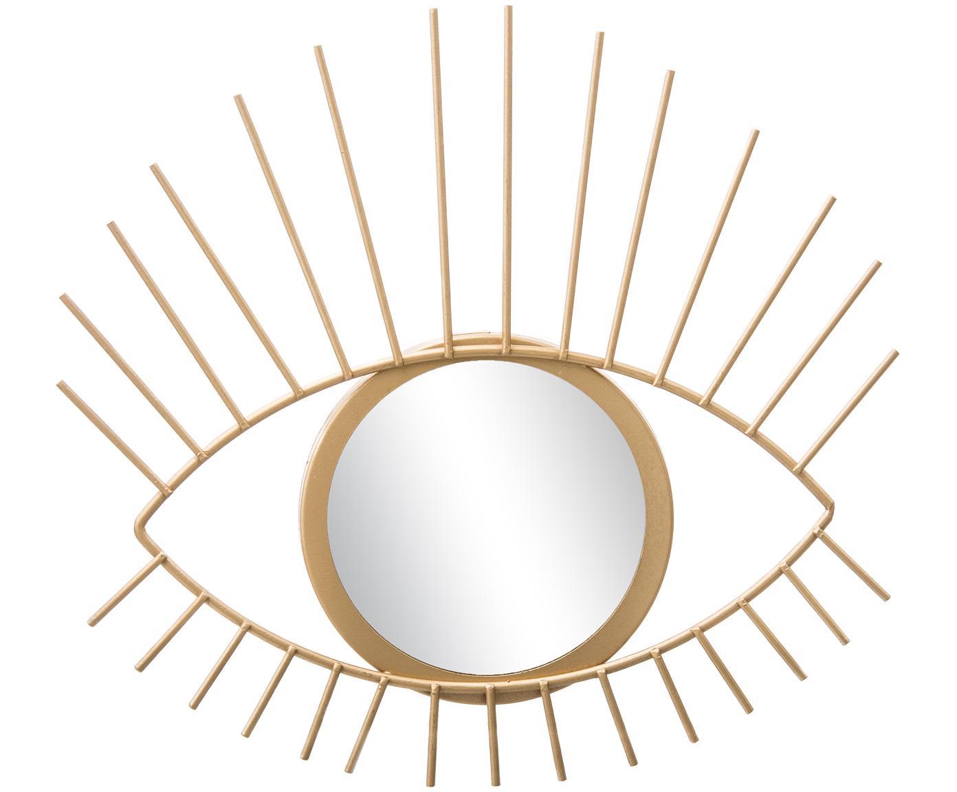 Lustro dekoracyjne Auge, Rama: odcienie złotego Lustro: szkło lustrzane, S 27 x W 31 cm