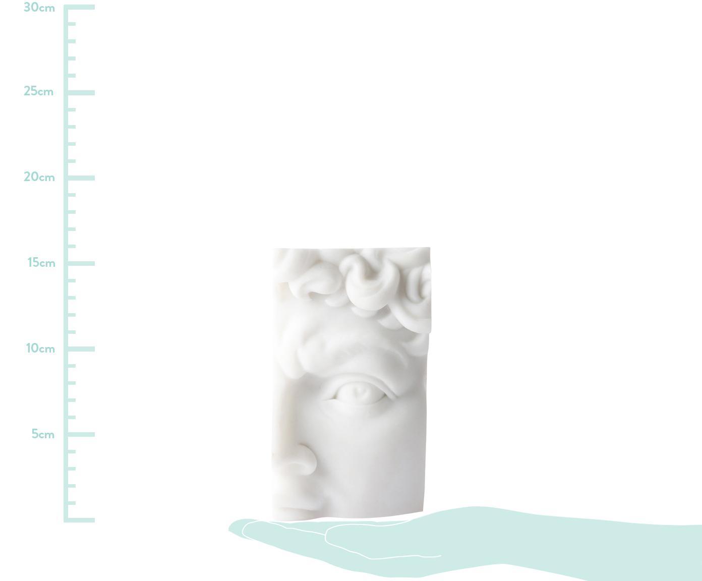 Deko-Objekt David, Harz, Marmorpulver, Weiss, 9 x 16 cm
