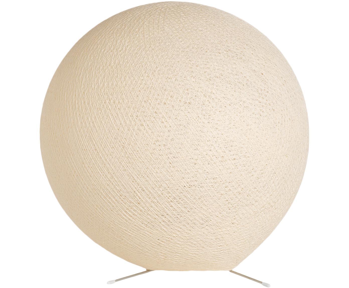 Tischleuchte Colorain, Lampenschirm: Polyester, Lampenfuß: Metall, Beige, Ø 36 cm