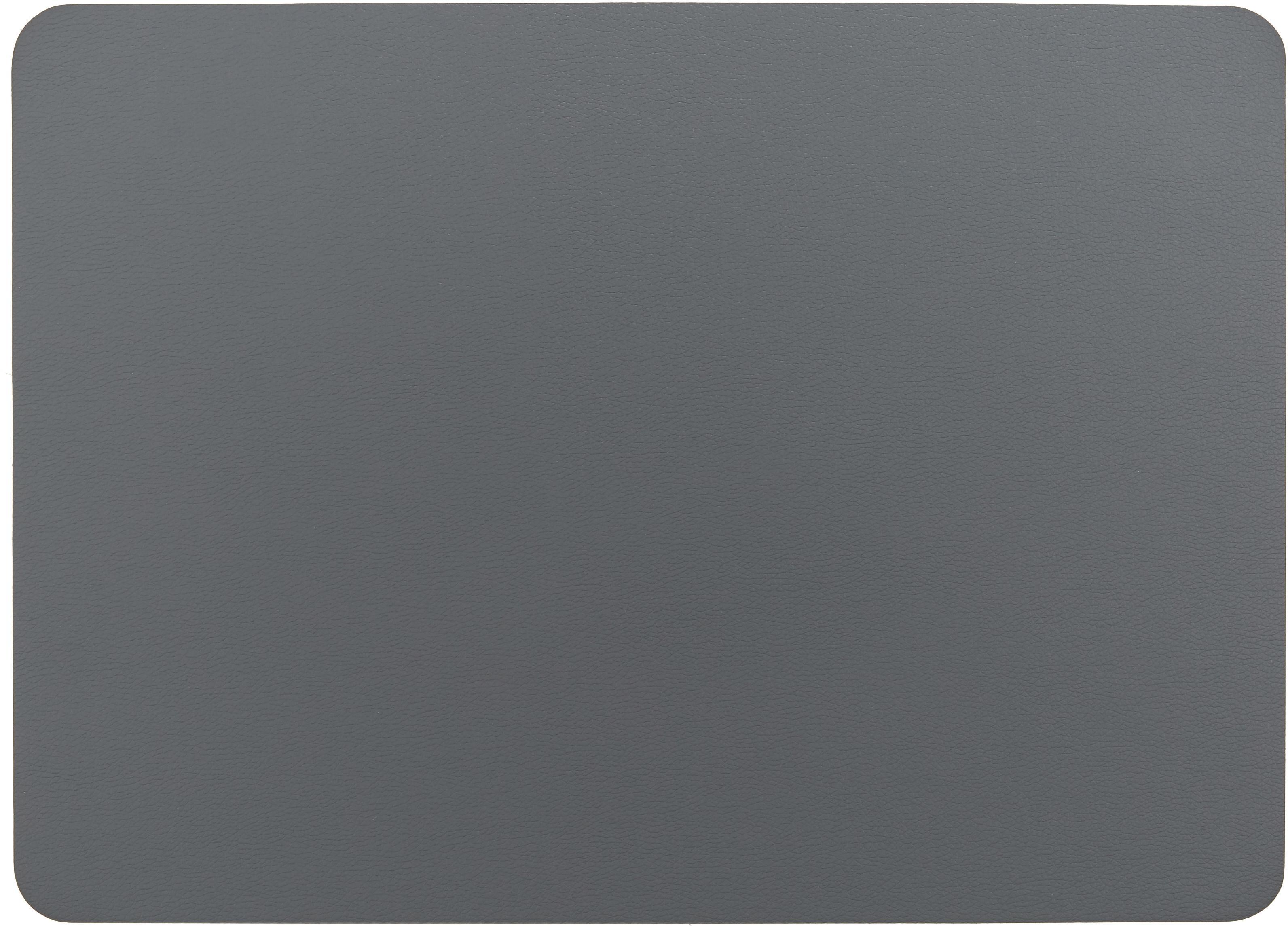 Kunstleder-Tischsets Pik, 2 Stück, Kunstleder (PVC), Anthrazit, 33 x 46 cm