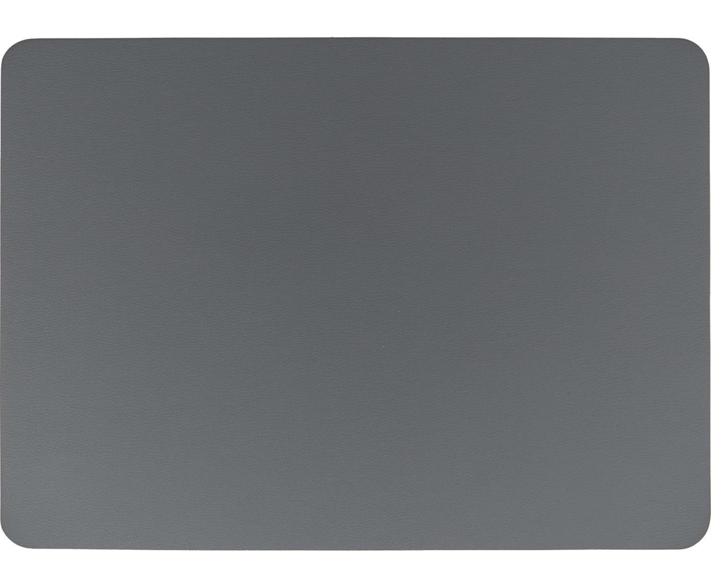 Placemats Pik, 2 stuks, Kunststof (PVC), Antraciet, 33 x 46 cm