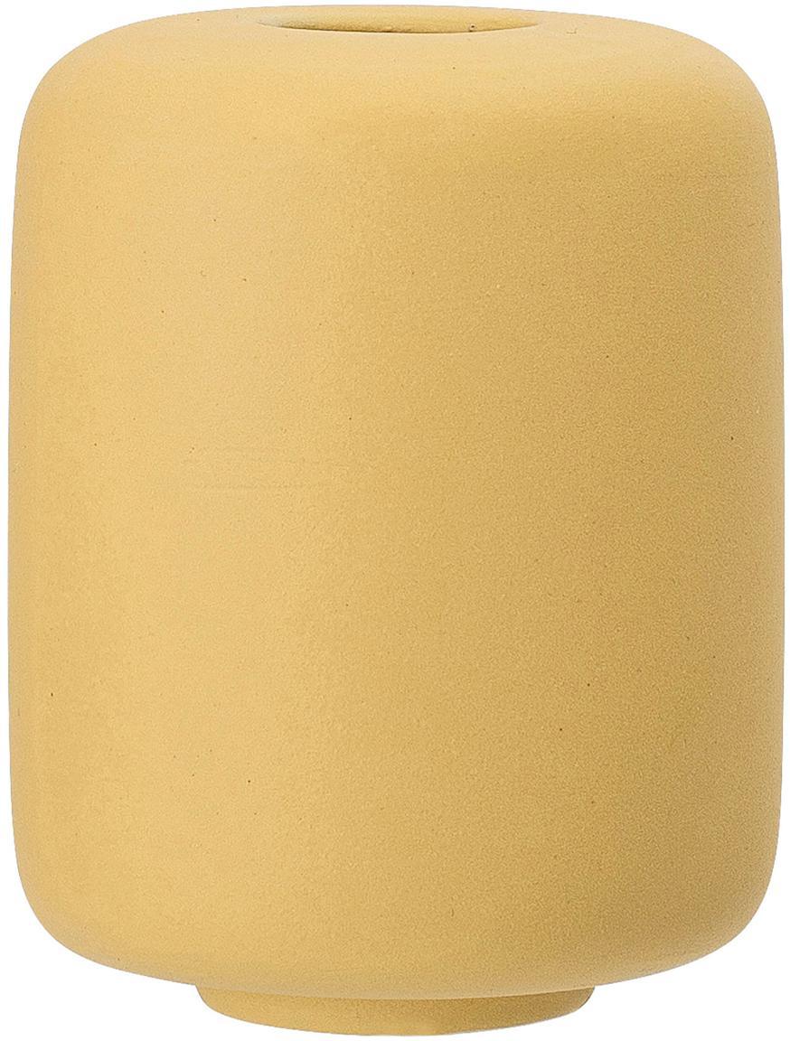 Kleine Keramik-Vasen Victoria, 2 Stück, Keramik, Gelb, Ø 9 x H 11 cm