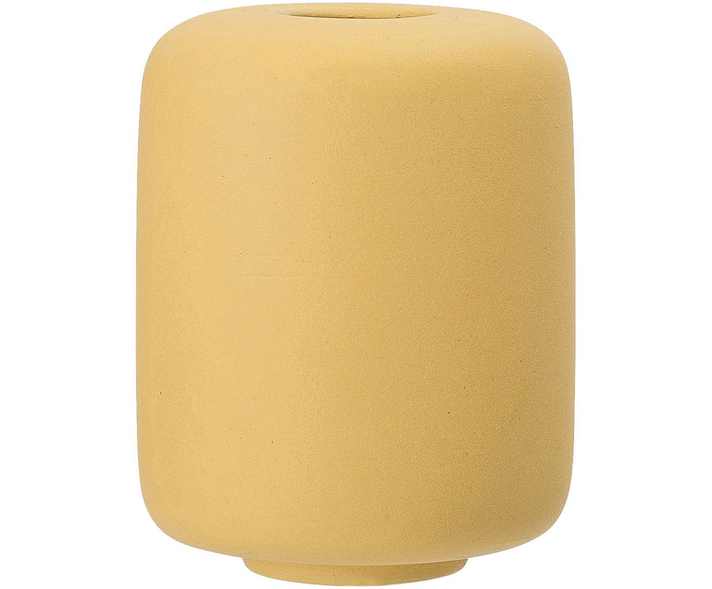 Mały wazon z ceramiki Victoria, 2 szt., Ceramika, Żółty, Ø 9 x W 11 cm