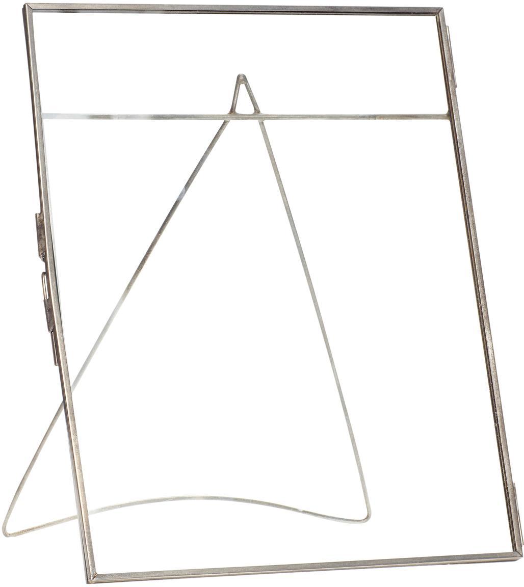 Ramka na zdjęcia Xamen, Odcienie srebrnego, transparentny, 21 x 26 cm
