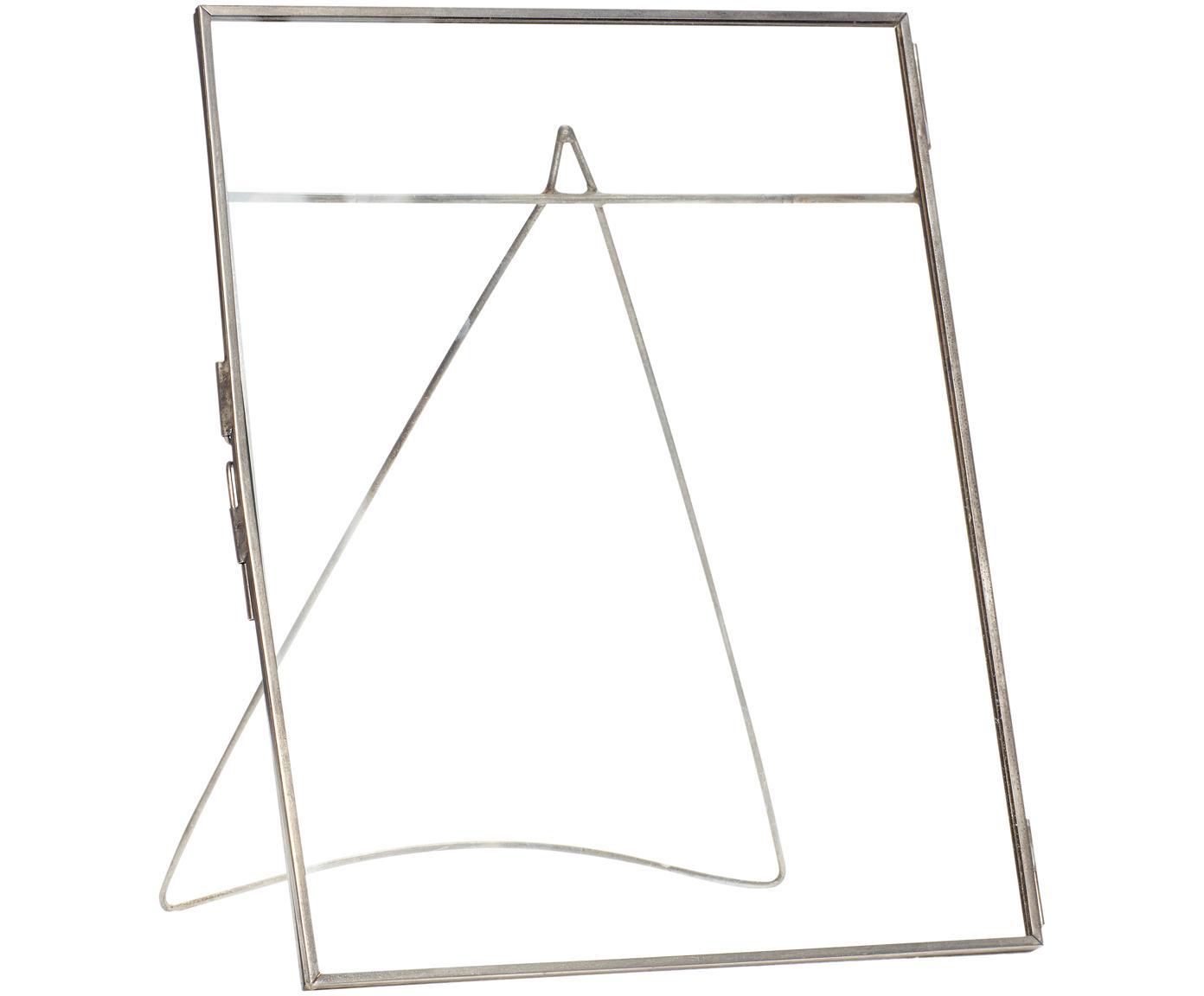 Fotolijst Xamen, Frame: gecoat messing, Zilverkleurig transparant, 21 x 26 cm