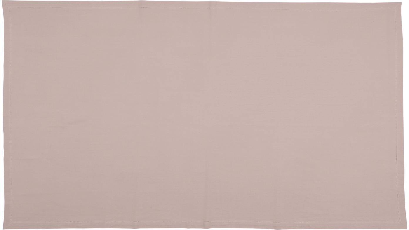 Baumwoll-Tischdecke Indi mit Lochstickerei, Baumwolle, Rosa, Für 6 - 8 Personen (B 140 x L 250 cm)