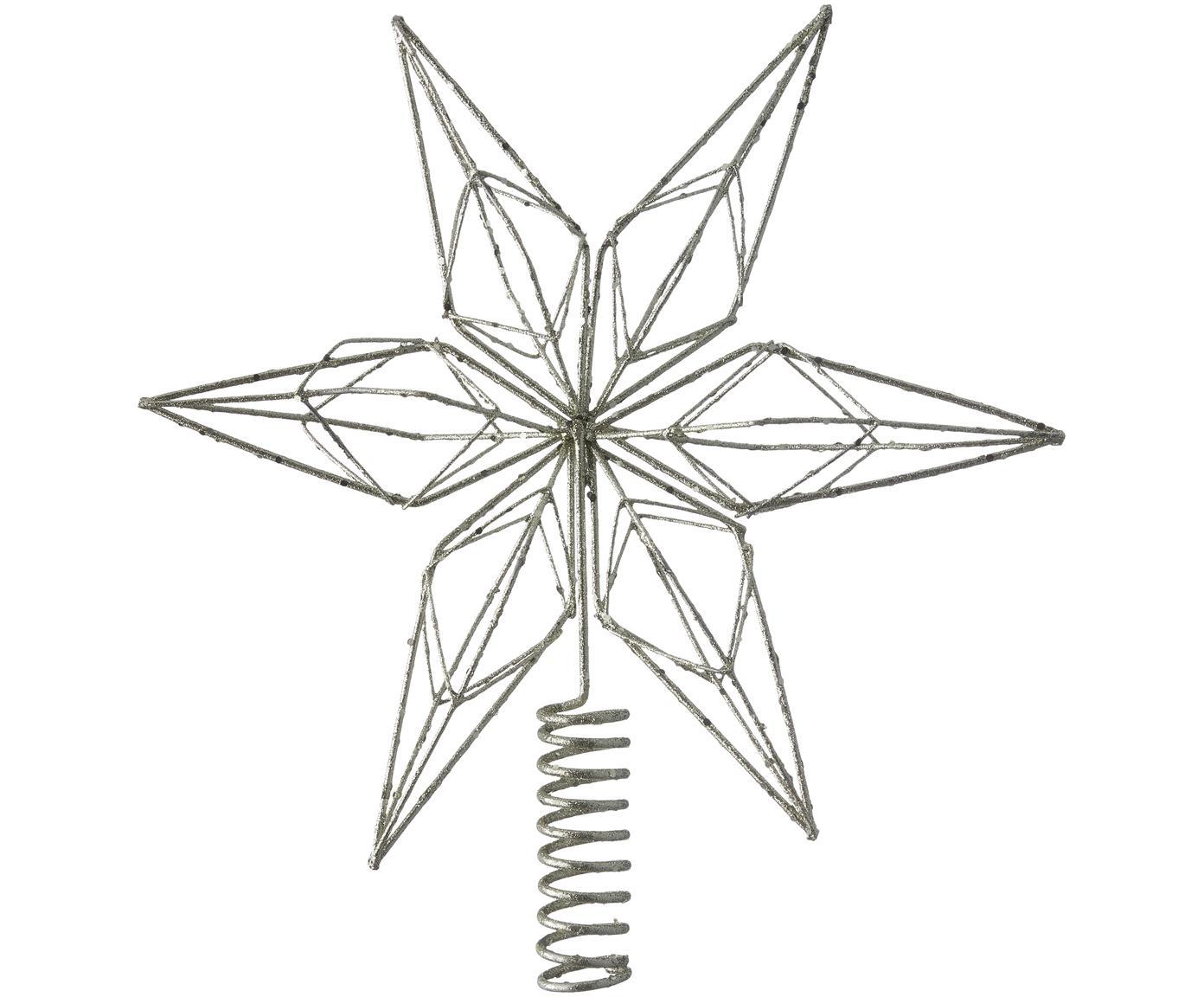 Weihnachtsbaumspitze Alivinne, Metall, lackiert, Metall, 27 x 28 cm