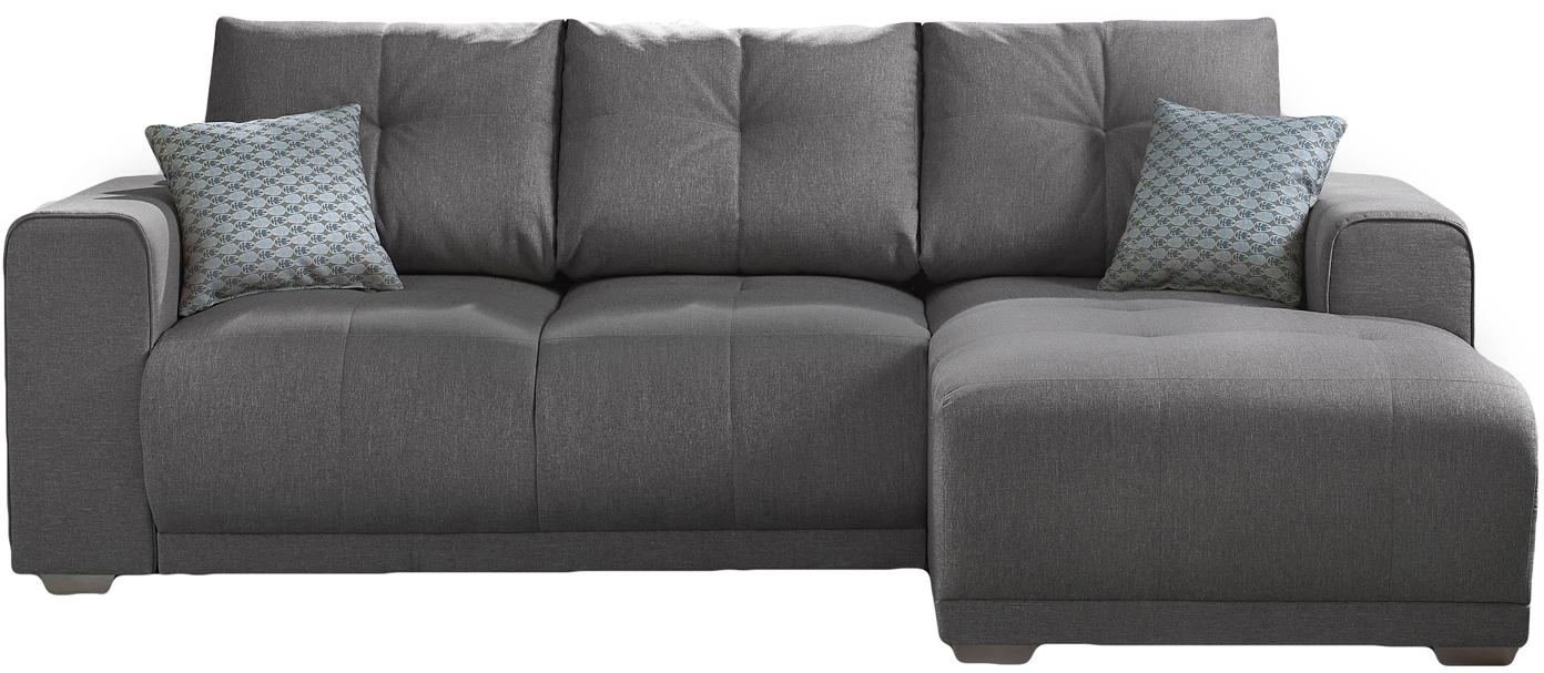 Sofa narożna z funkcją spania Lisbona, Tapicerka: 100% aksamit poliestrowy, Nogi: metal lakierowany, Szary, matowy, S 236 x G 165 cm