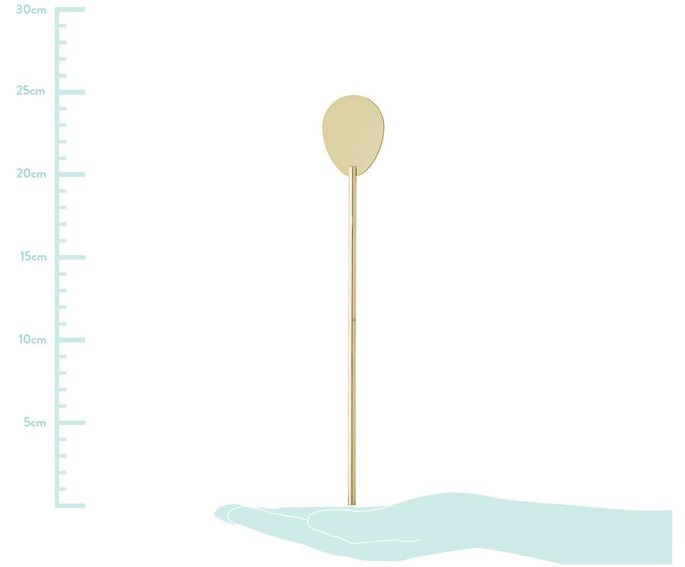 Łyżka do koktajli Curacao, 4 szt., Lakierowana stal szlachetna, Odcienie złotego, błyszczący, D 25 cm