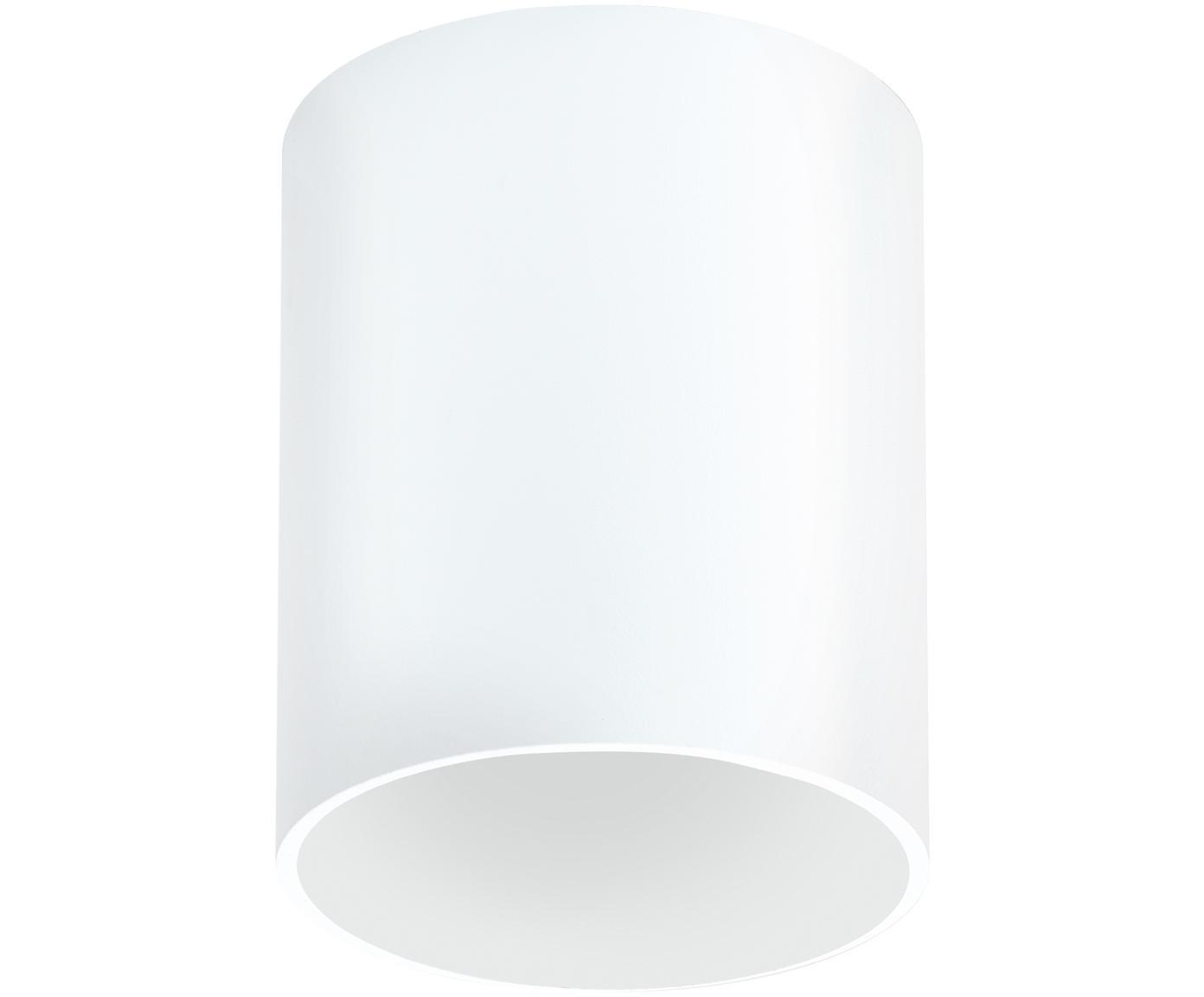 Faretto da soffitto a LED Marty, Metallo verniciato a polvere, Bianco opaco, Ø 10 x Alt. 12 cm