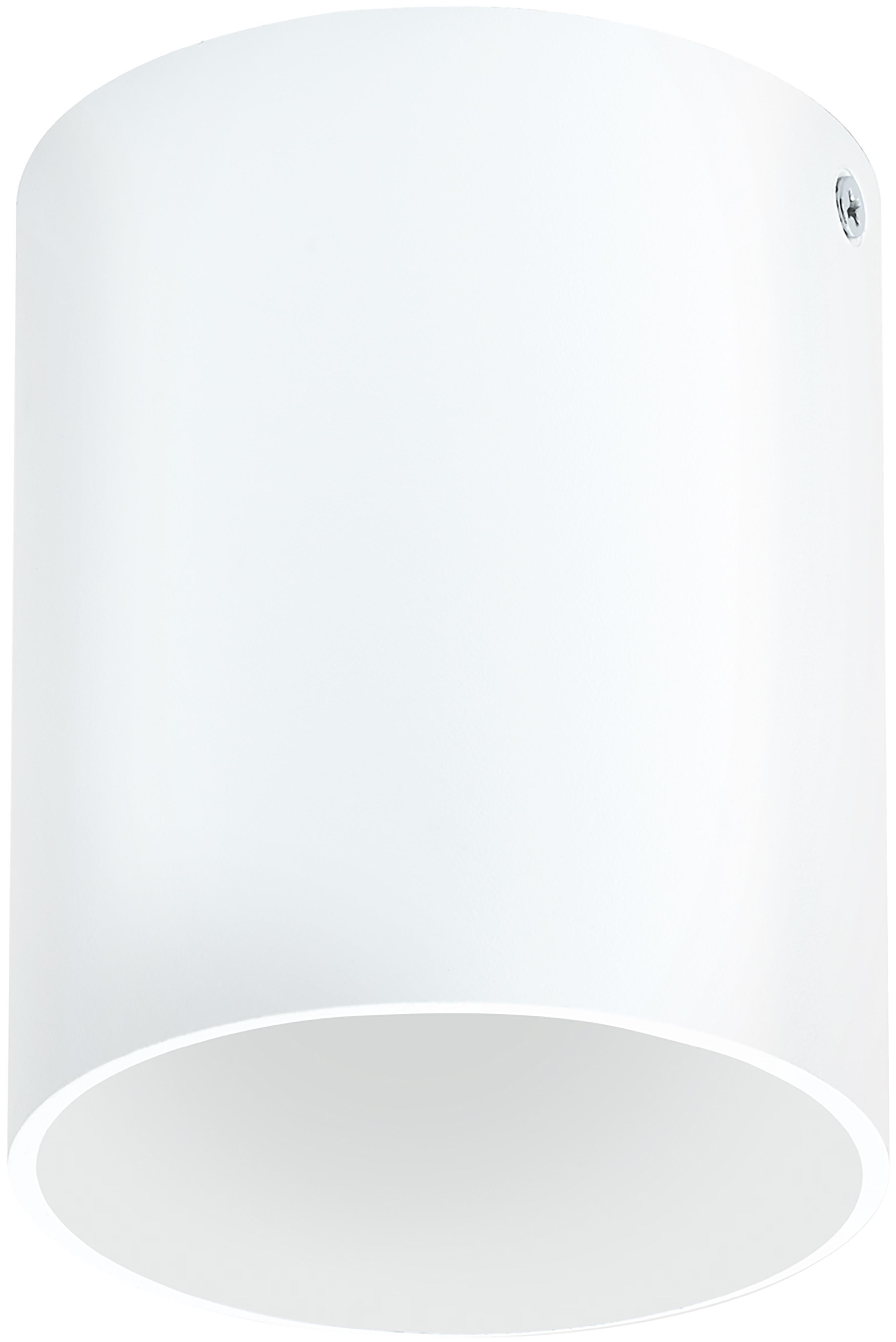 Plafondlamp Marty, Gepoedercoat metaal, Mat wit, Ø 10 x H 12 cm