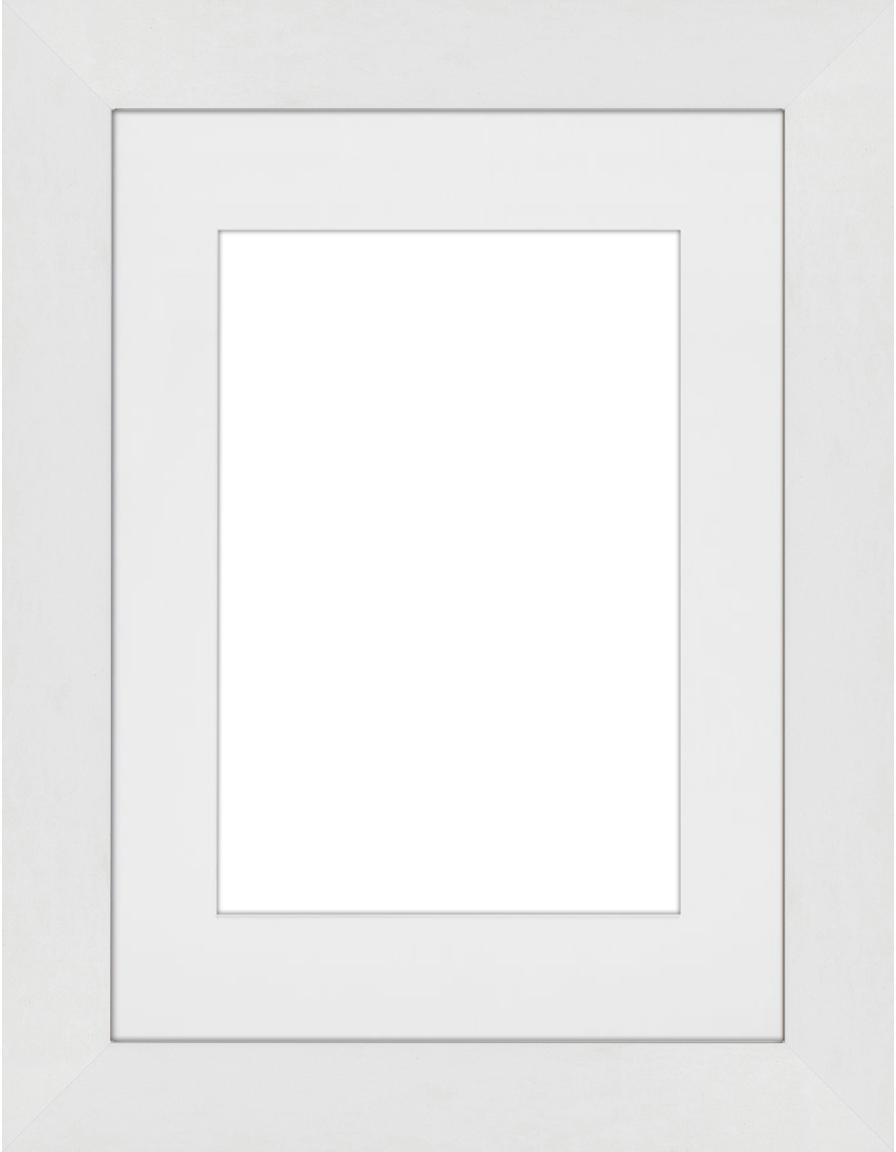 Cornice bianca Apollon, Cornice: legno di pino Monterey ve, Retro: Pannello di fibra a media, Bianco, 13 x 18 cm