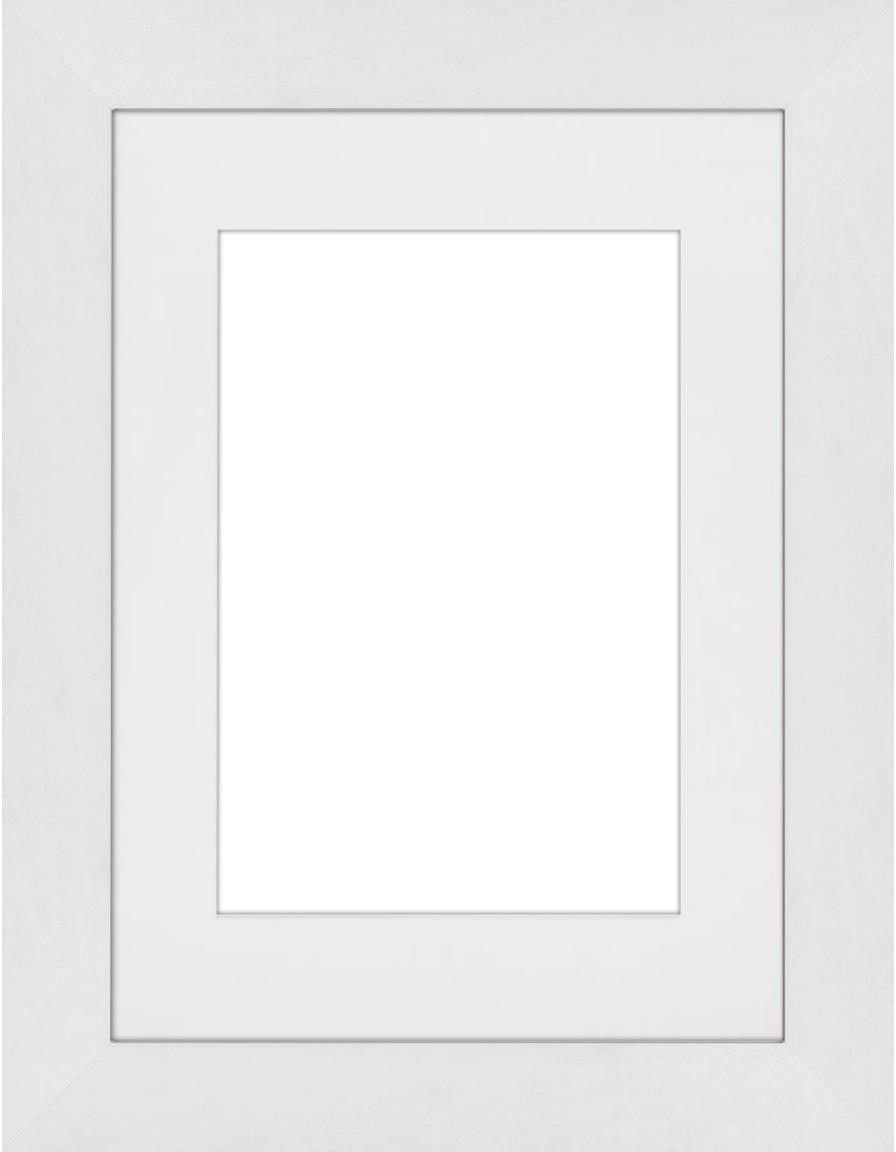 Marco Apollo, Parte trasera: Tablero de fibras de dens, Blanco, 13 x 18 cm