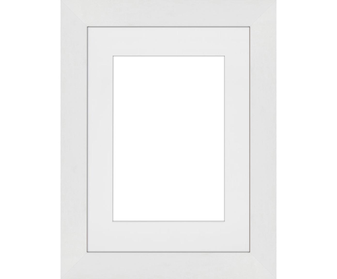 Cornice Apollon, Cornice: legno di pino Monterey ve, Retro: Pannello di fibra a media, Bianco, 13 x 18 cm