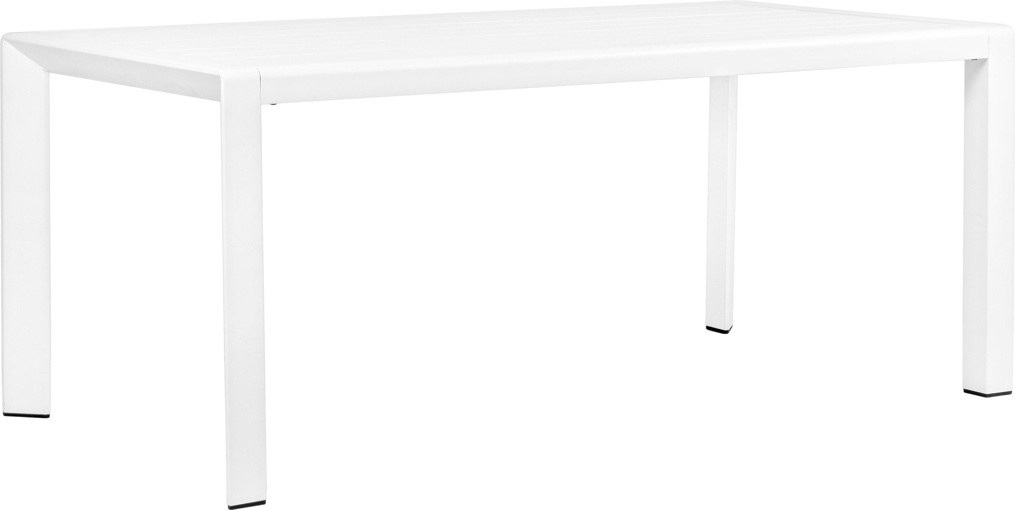 Tavolo da giardino Kirby, Alluminio verniciato a polvere, Bianco, Larg. 180 x Prof. 90 cm