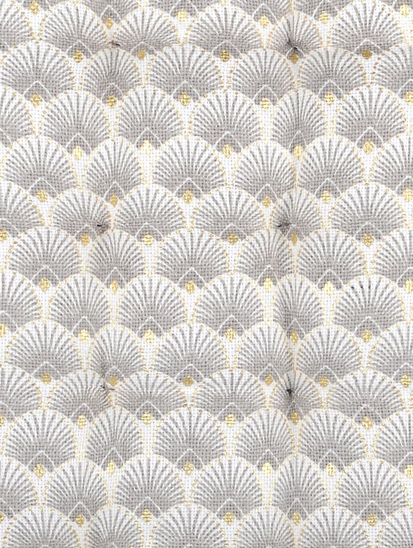 Stoelkussen Corosol, Katoen, Grijs, goudkleurig, 40 x 40 cm