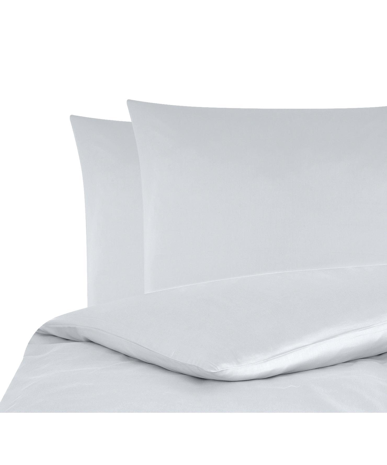 Baumwollsatin-Bettwäsche Comfort in Hellgrau, Webart: Satin Fadendichte 250 TC,, Hellgrau, 240 x 220 cm + 2 Kissen 80 x 80 cm