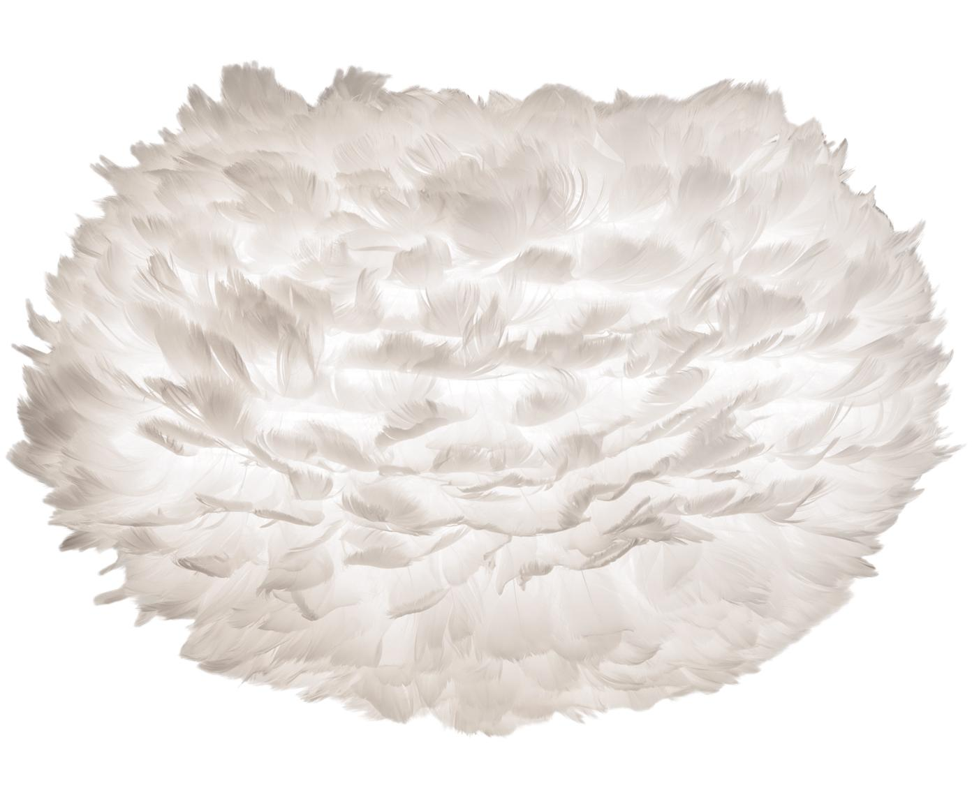 Paralume in piume Eos, Piume d'oca, acciaio, Bianco, Ø 45 x Alt. 30 cm
